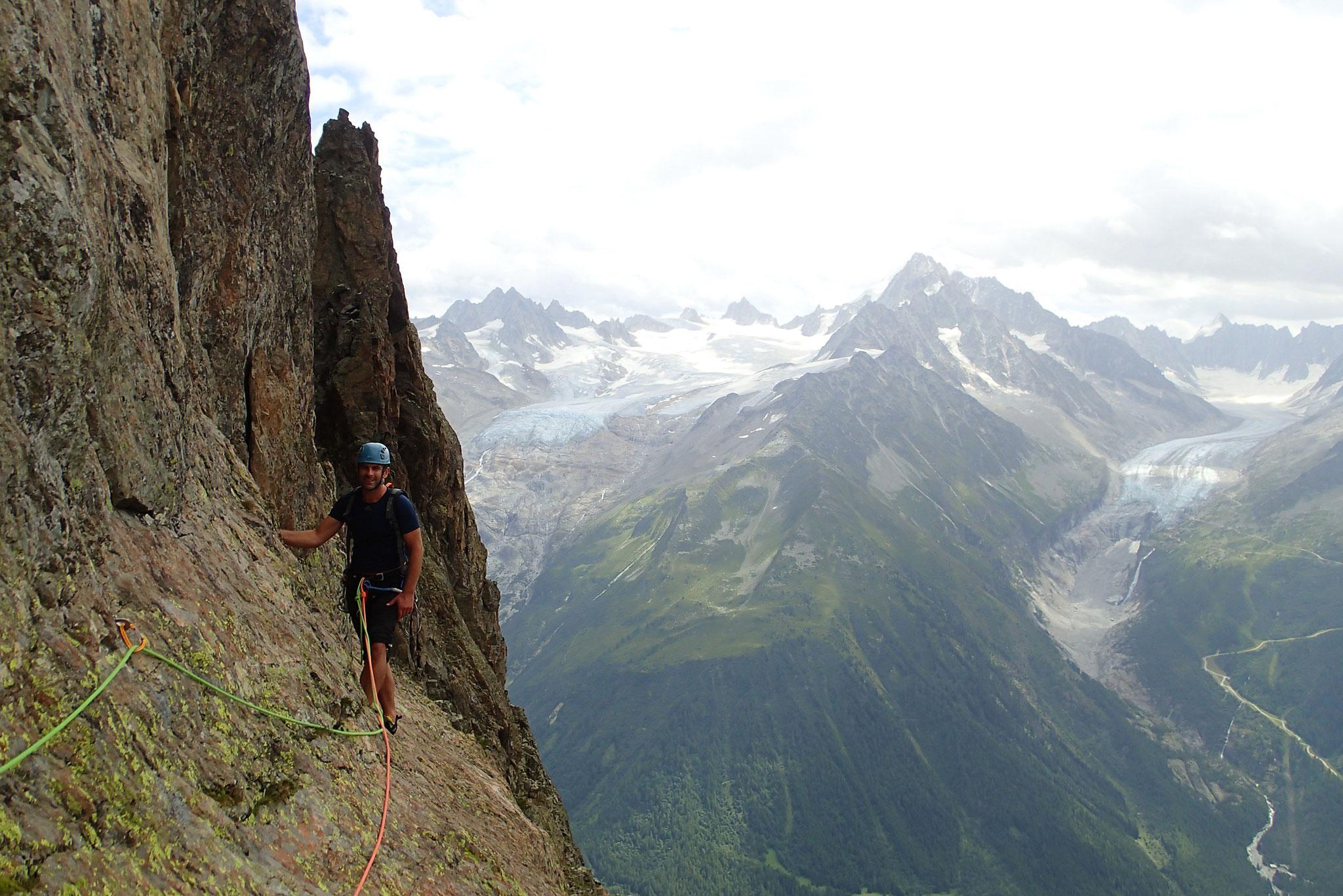 La traversée L7, avec vue sur les glaciers,Tour et 'Argentière