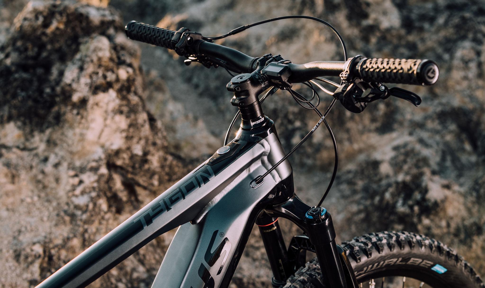 Die Gabel ist für den E-Bike Einsatz optimiert und an das höhere Gewicht angepasst.