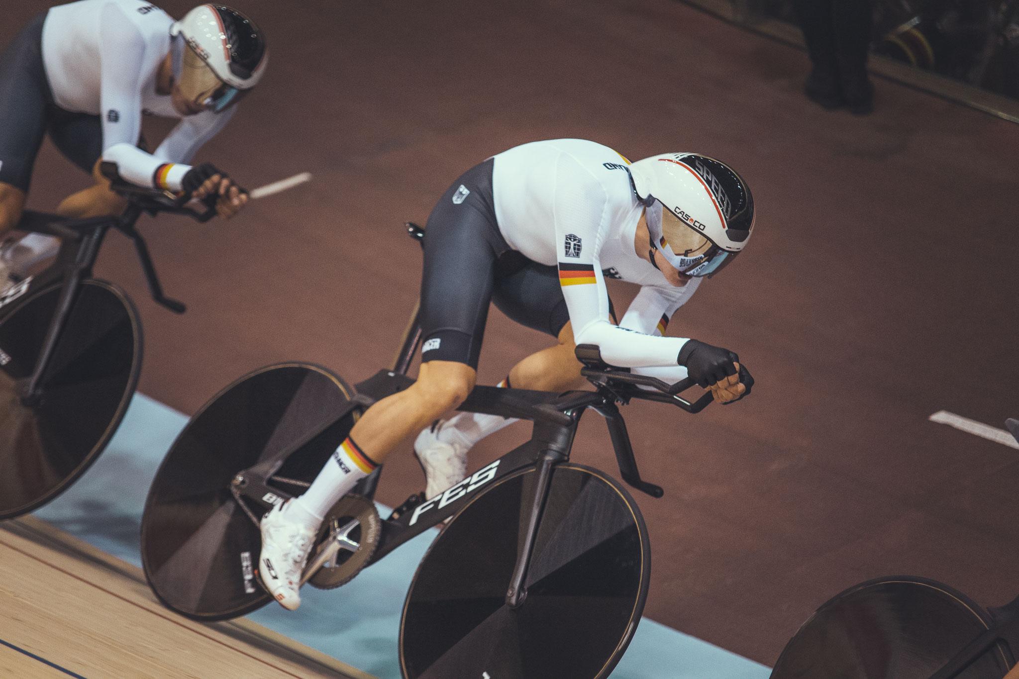 Radsport_Bahn-EM_Felix Groß im Finallauf um Platz 3