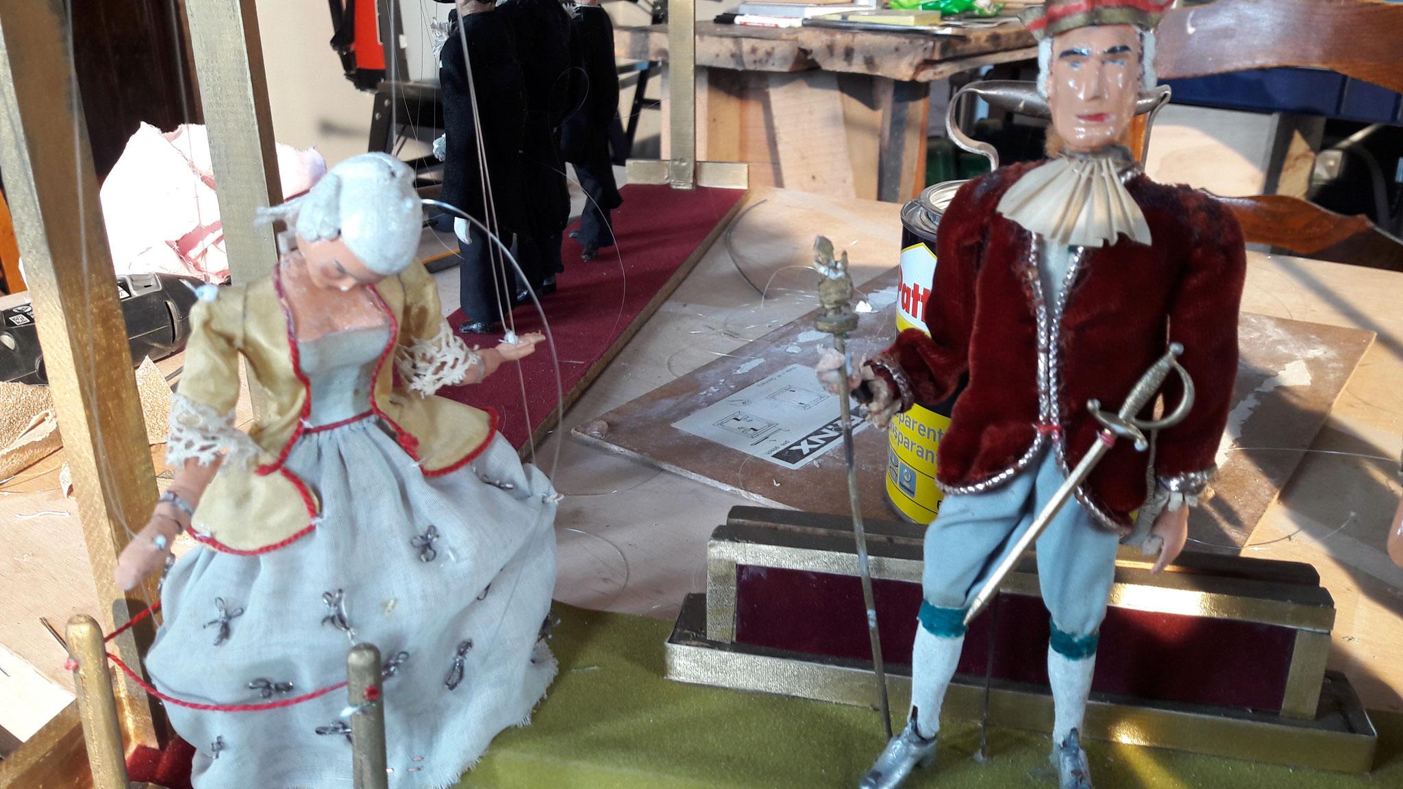 Restauration  de la collection de marionnettes de la Province de Namur gérée par le Théâtre des Zygomars