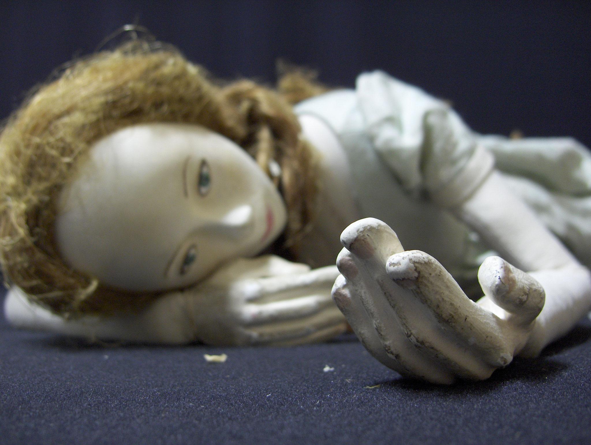 Marionnette créée pour le spectacle ''La maman du Prince'' pour Une compagnie.