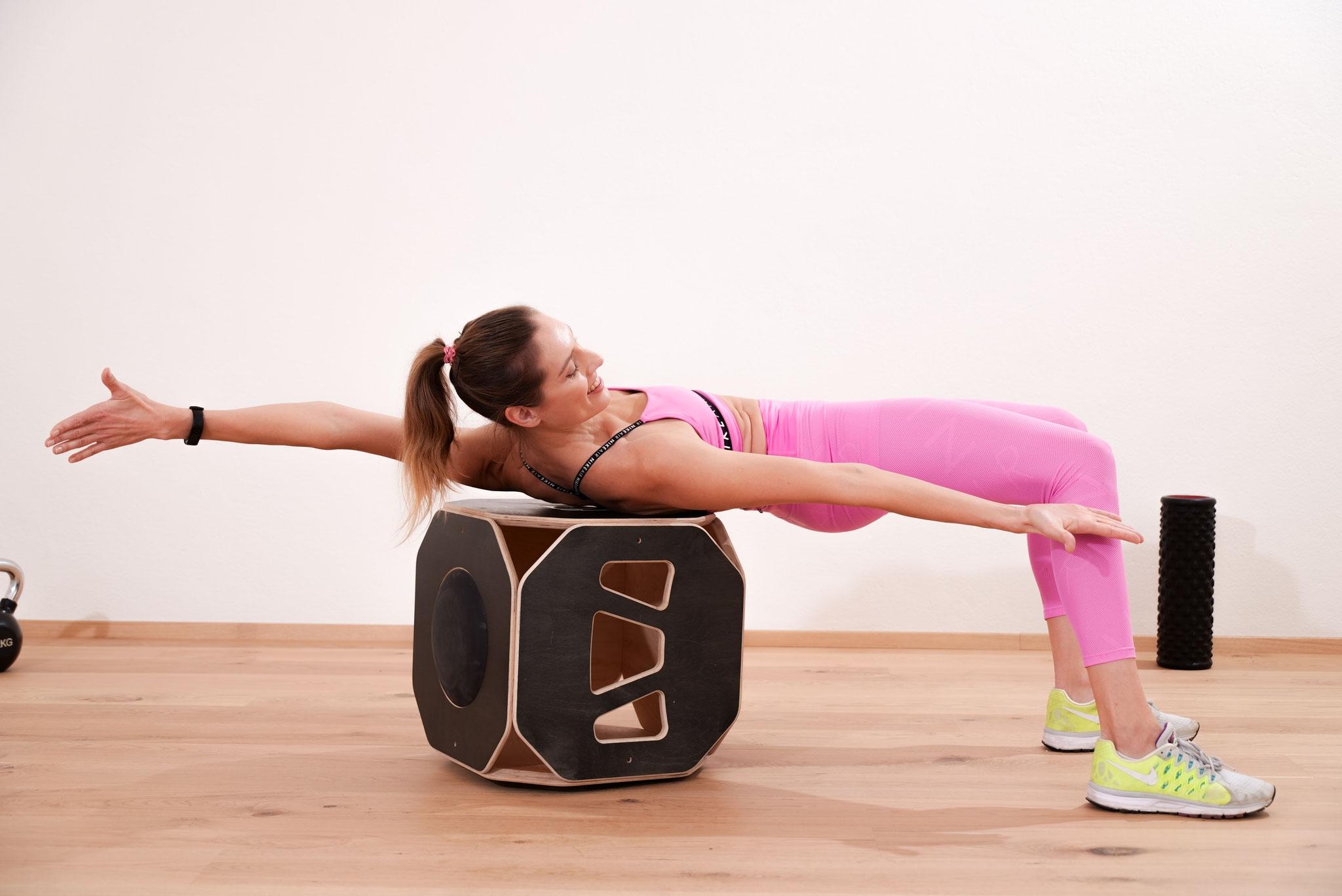 Twist Scheibe auf dem Boden für Stabilitäts Training