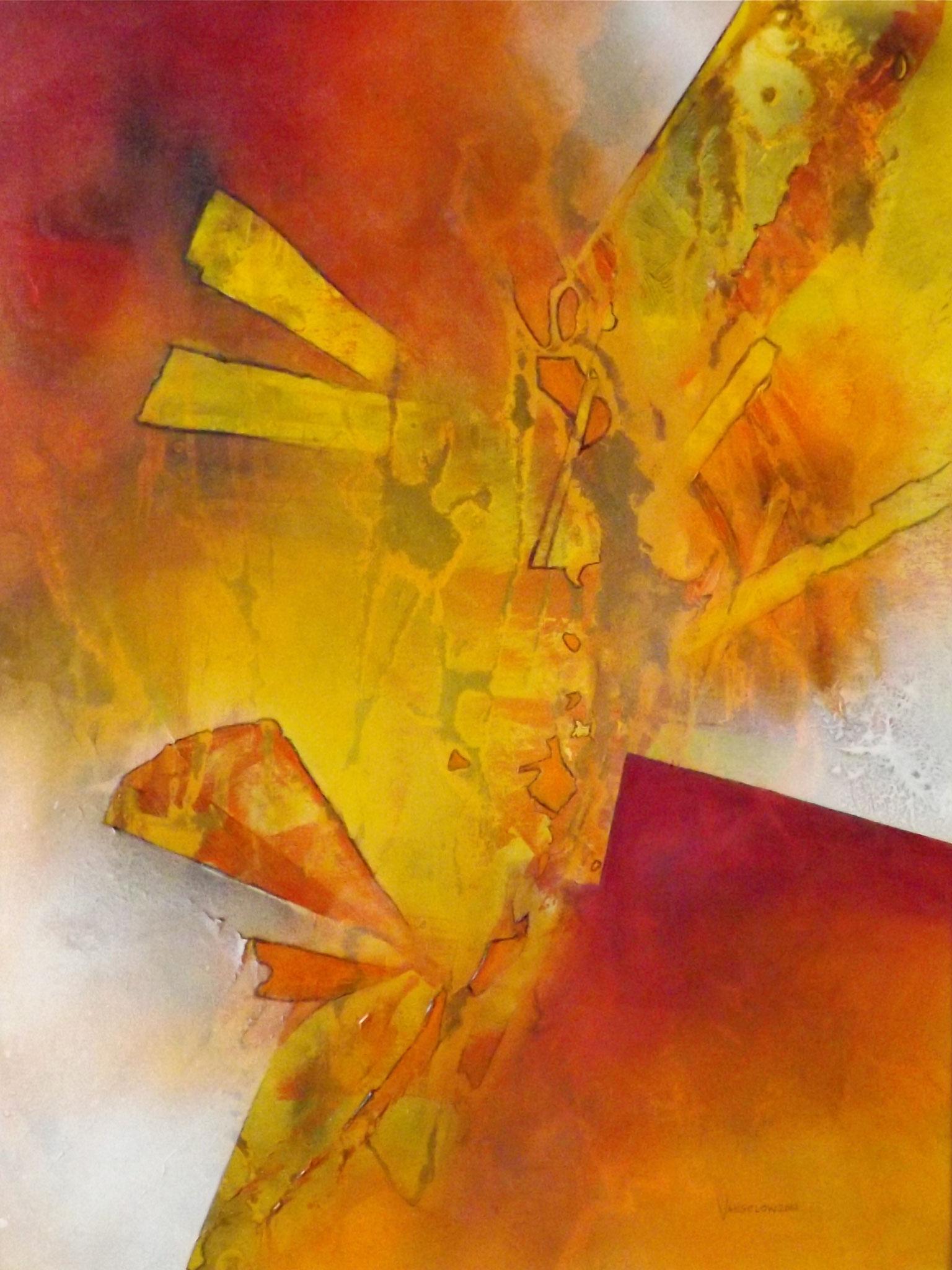 Fragmente, 60x80cm, Acryl