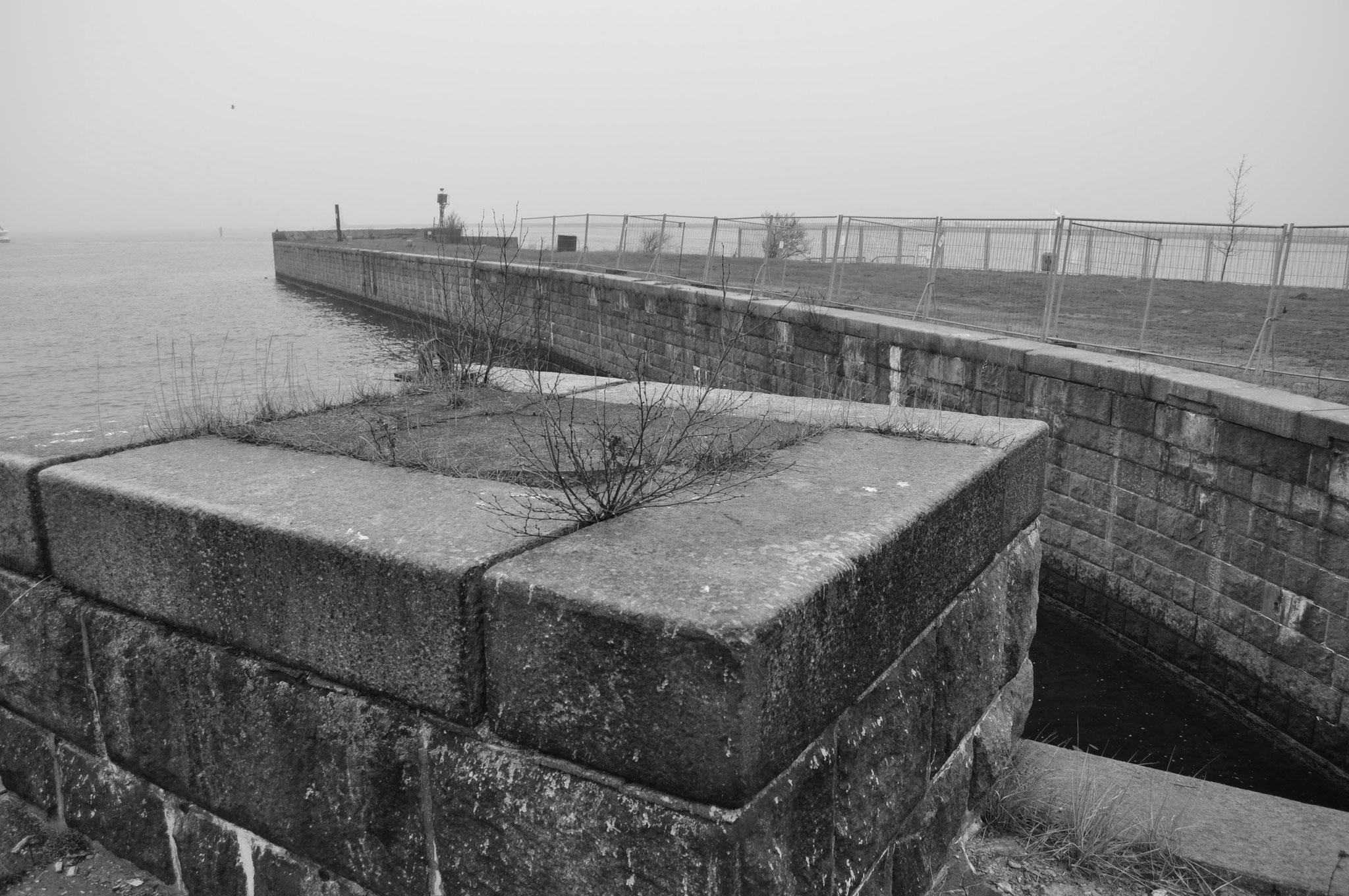 Der alte Fährhafen in Warnemünde. (Wurde 2014 zugeschüttet).