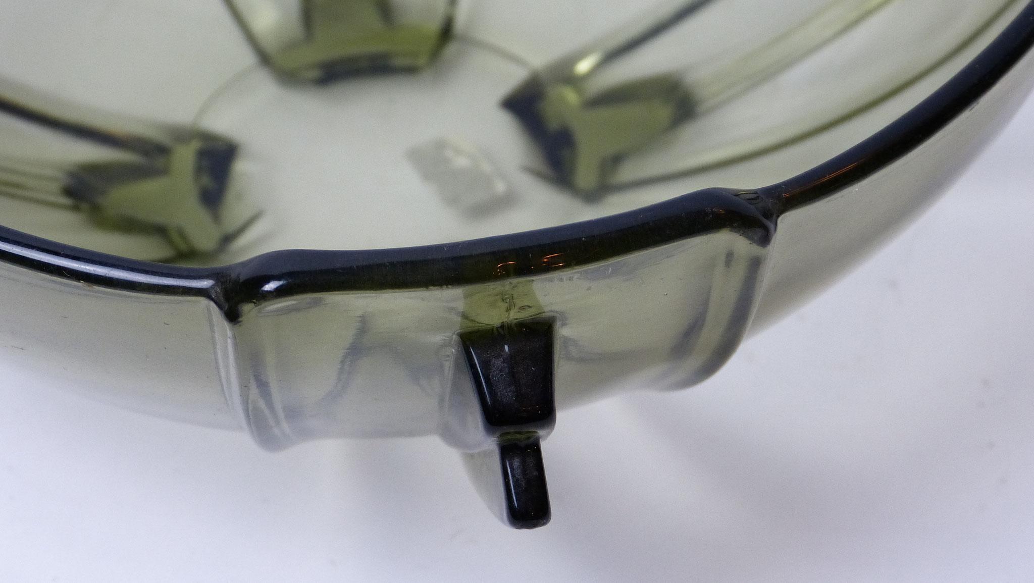 Schaal rookglas, jaren 70