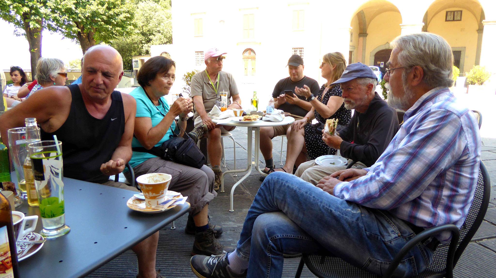 Letztes Treffen mit Freunden aus Bibbiena