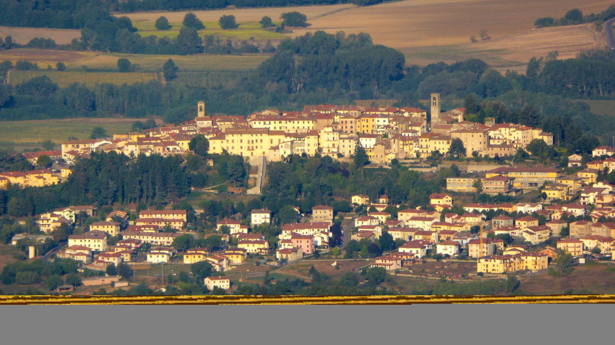 Bibbiena von La Verna aus gesehen