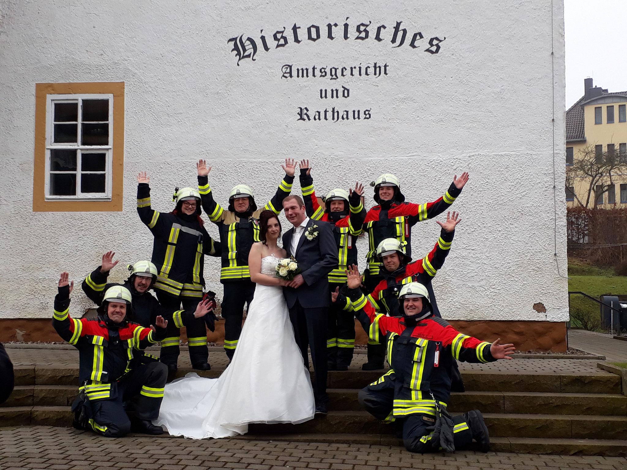 27.01.2018 Hochzeit von Kamerad Tobias Schumann (alias Kurt)