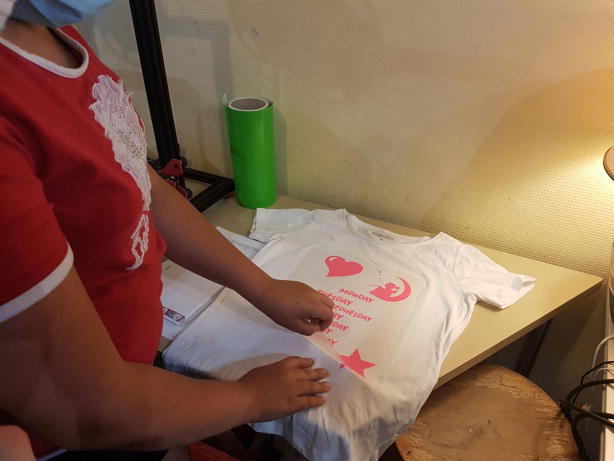 Flocage d'un t-shirt