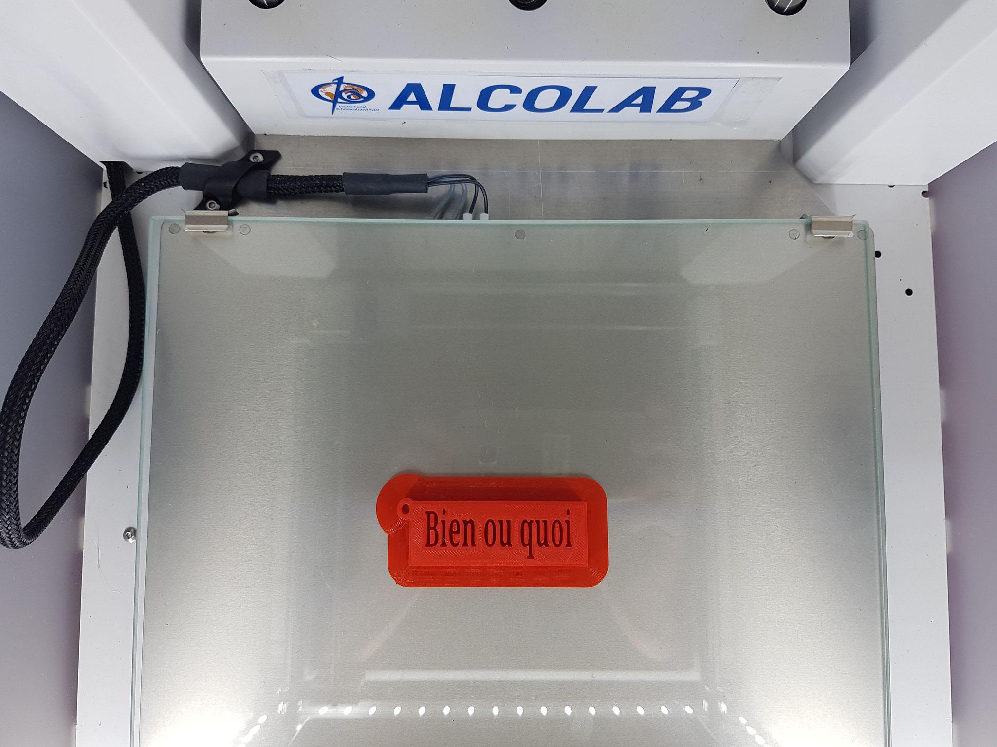 L'imprimante 3D en action