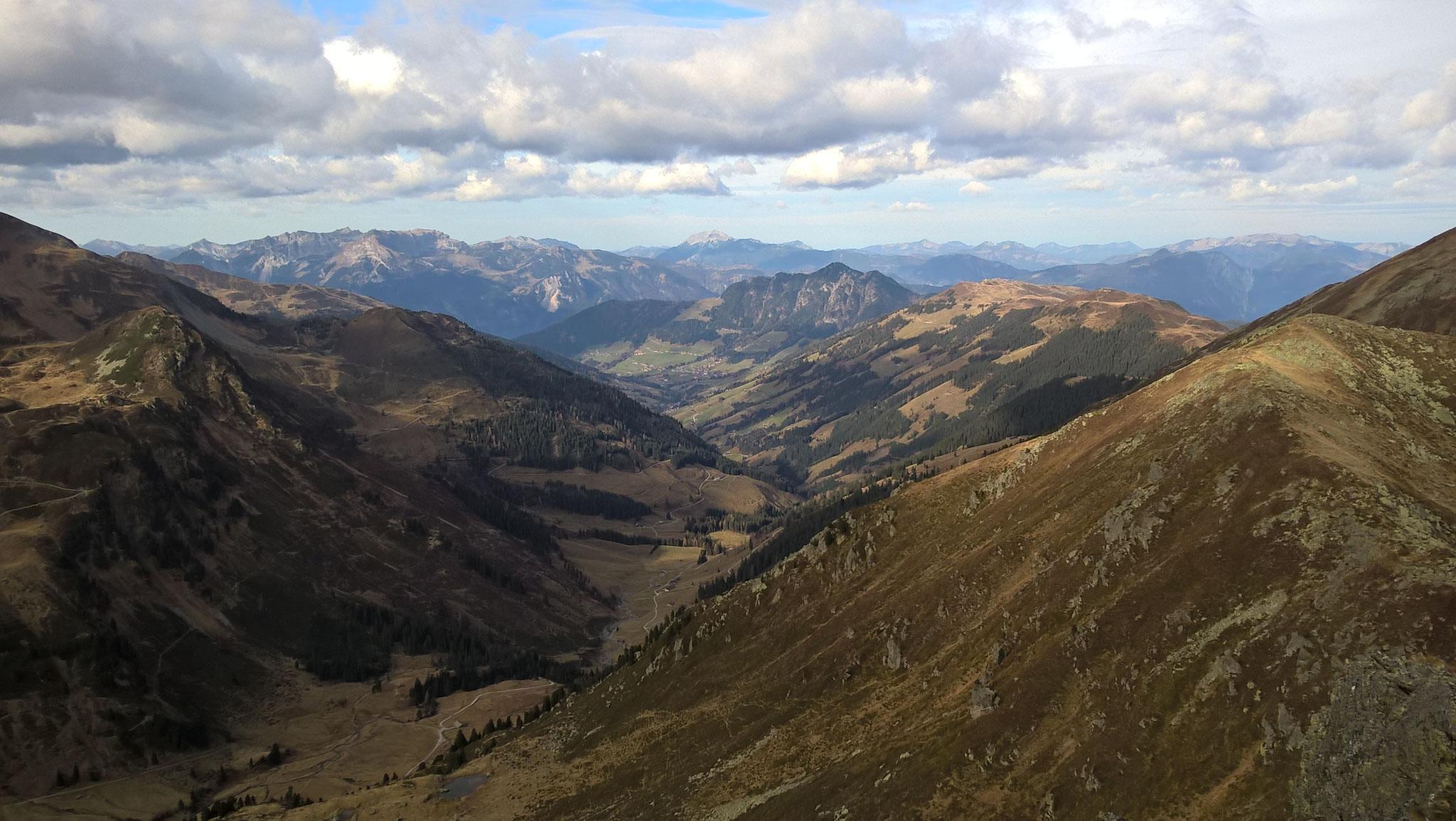 Blick über das Alpbachtal vom Sonnjoch