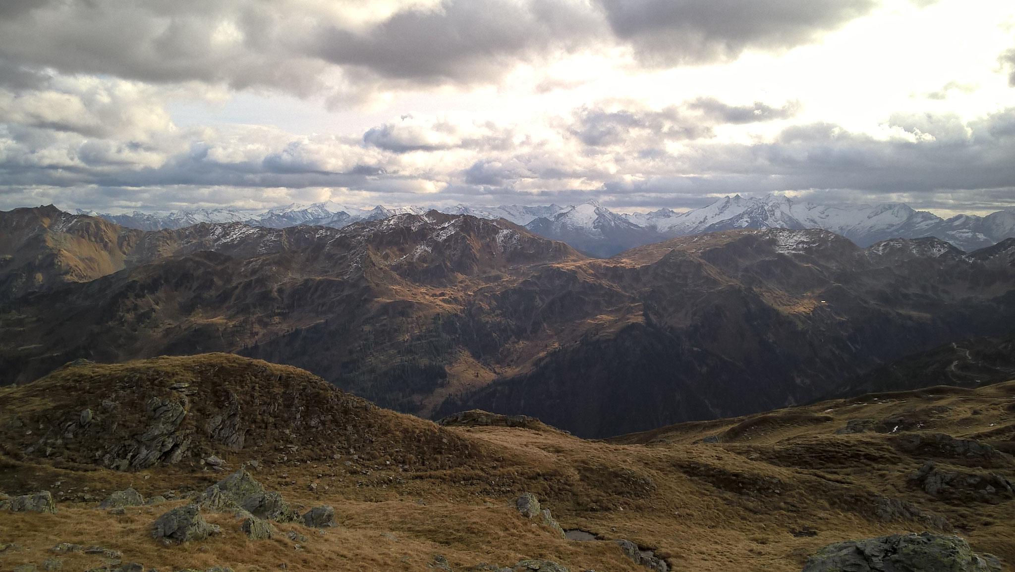 Ausblick vom Sonnjoch Richtung Hopfgarten - Langer Grund