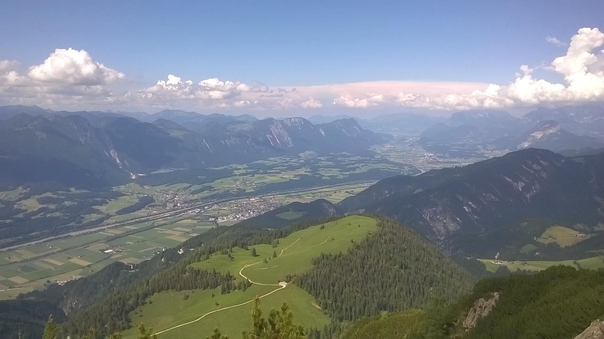 Blick vom Gradlspitz Richtung Kufstein - bis nach Bayern