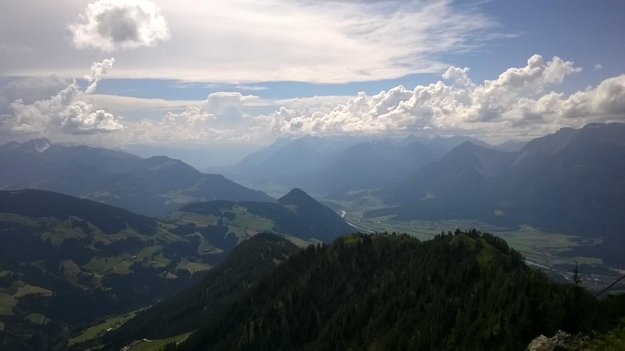 Blick vom Gradlspitz Richtung Schwaz - DER Aussichtsberg