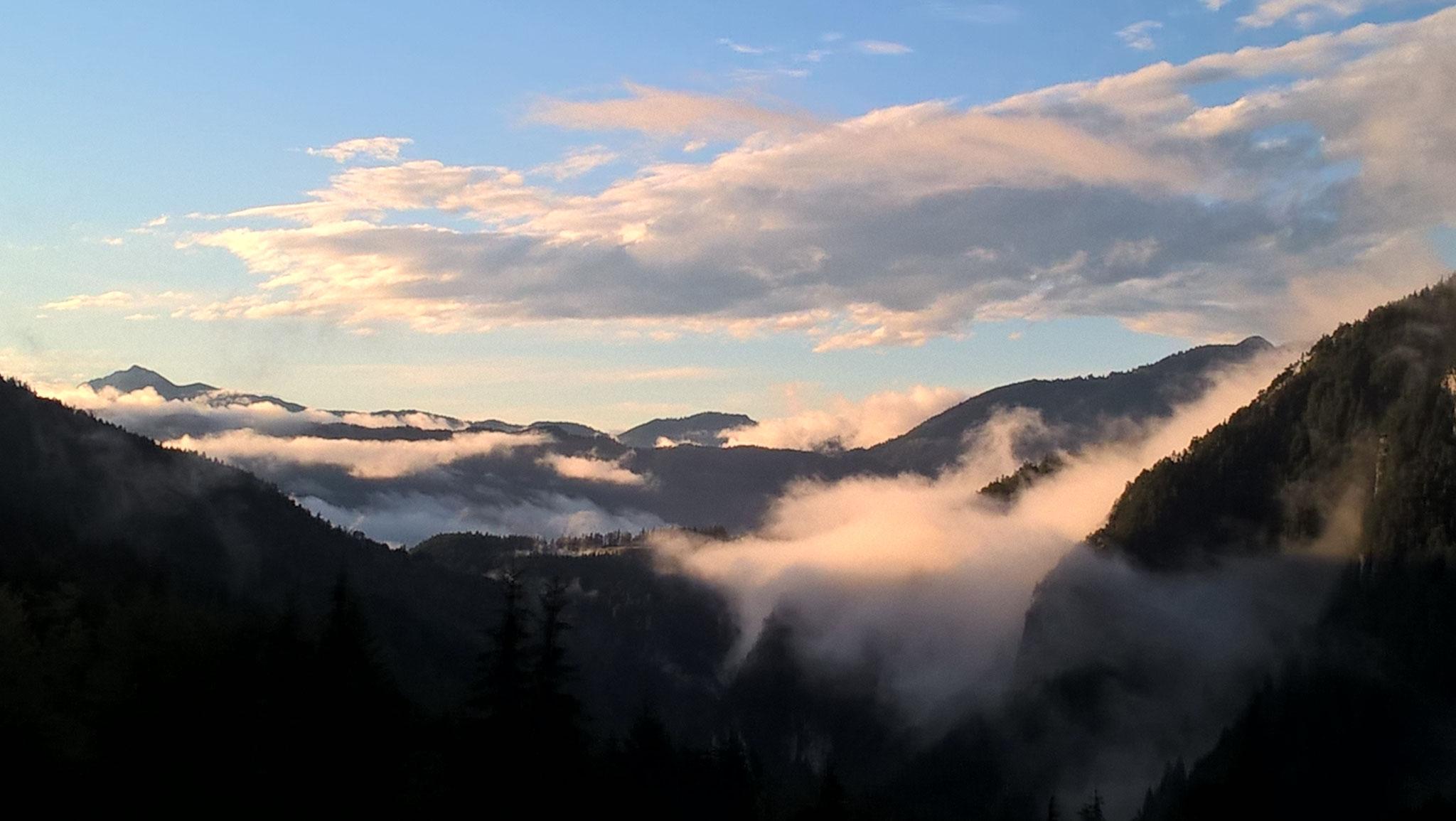 Auch ein paar Nebelfetzen können schön sein.