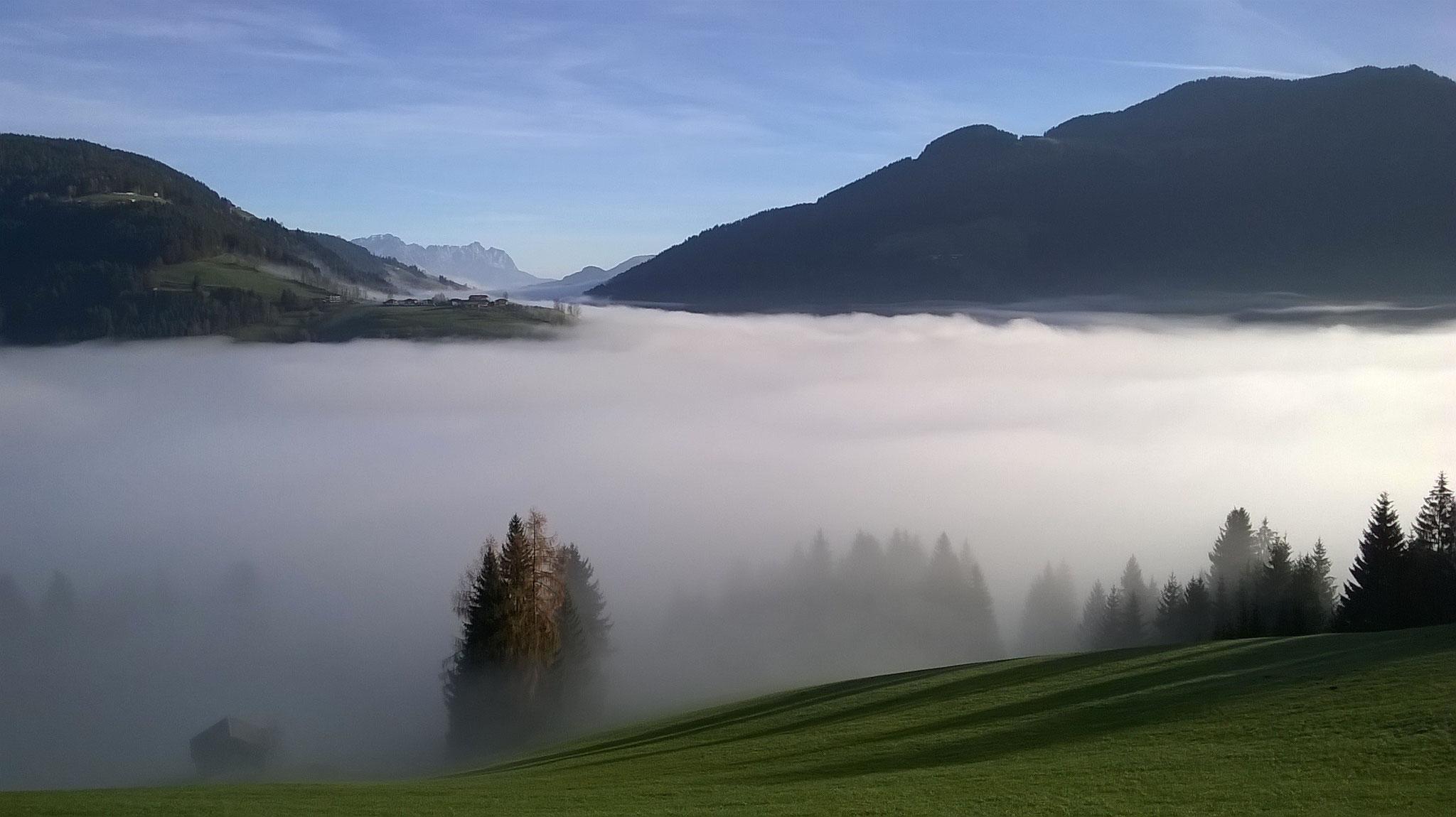 Richtigen Nebel kennen wir kaum - aber so darf es gerne sein.