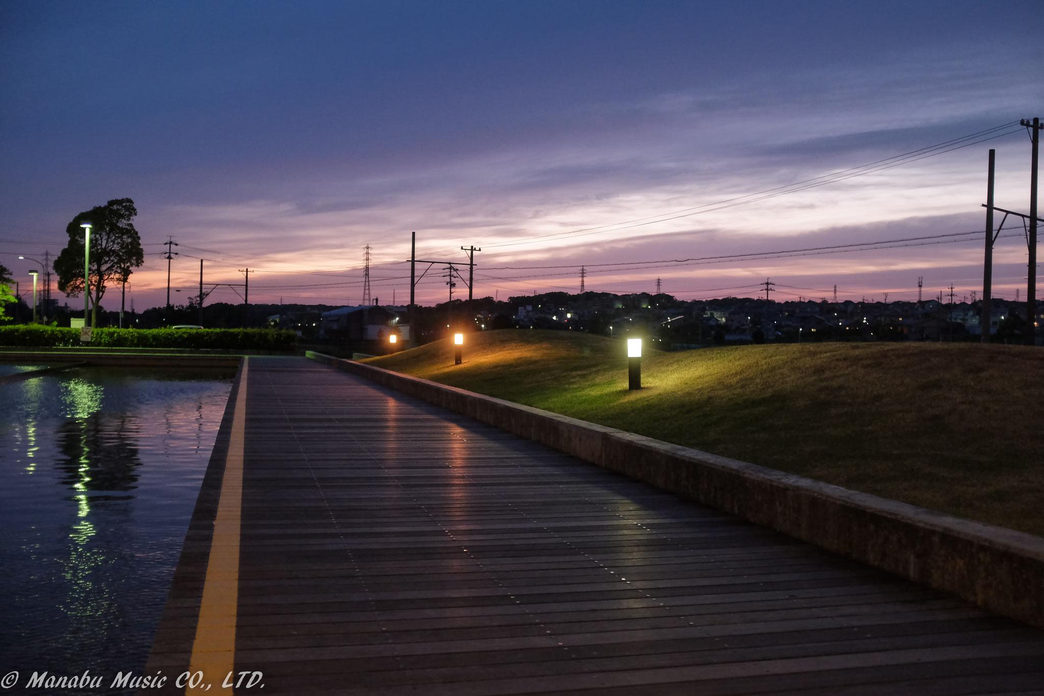 武豊町、ゆめたろうプラザからの夕景  Fujifilm X100T