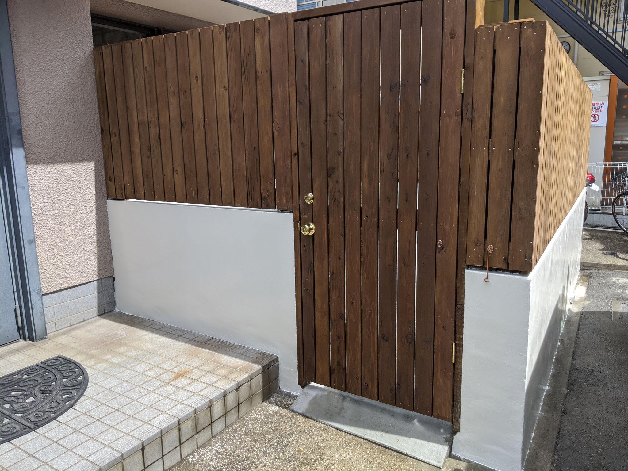 神奈川県川崎市目隠しフェンス