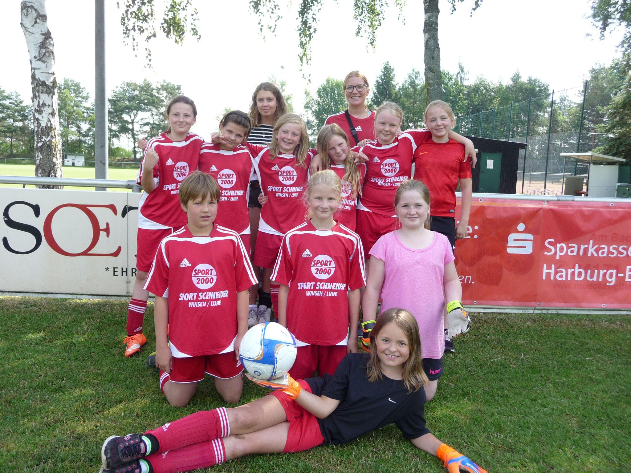 Unser Mädchenteam aus den vierten Klassen