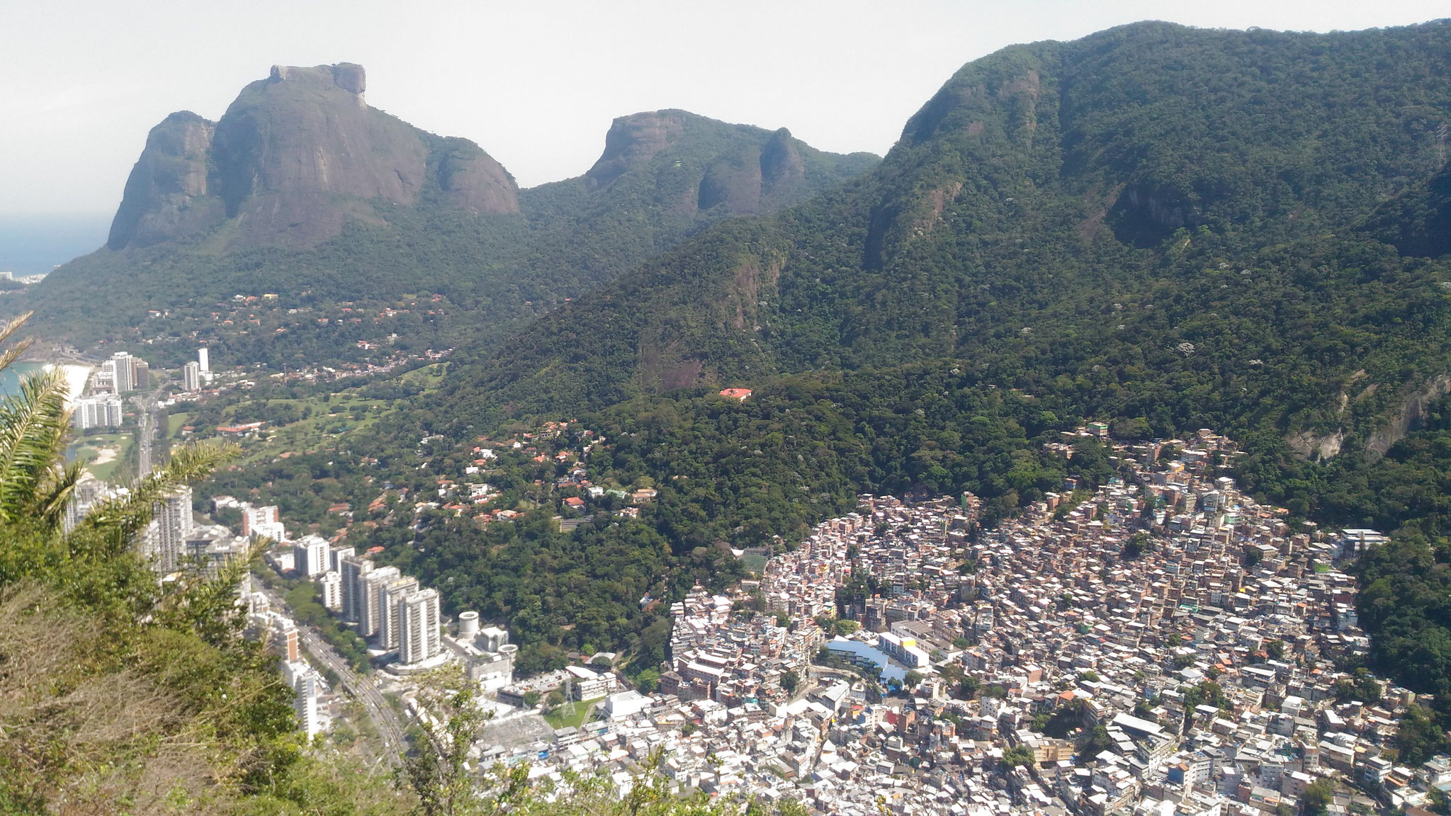 Rocinha favela is the largest of Rio : 80 000 inhabitants
