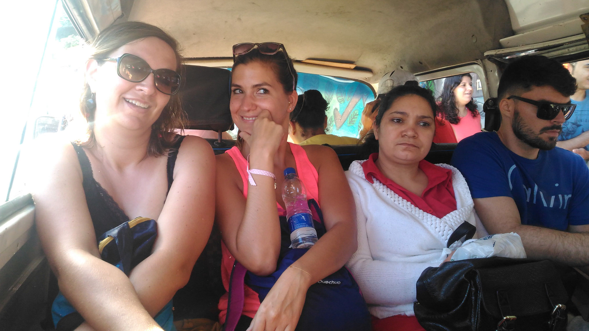 we go up with the strong VW Van with locals