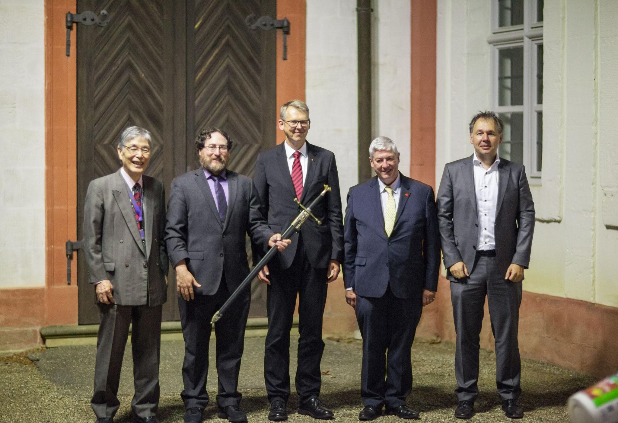 Prof. Isamu Miyamoto, Prof. Craig B. Arnold, Prof. Frank Vollertsen, Prof. Jean-Pierre Kruth and Prof. Michael Schmidt during LANE 2018 (from left to right)