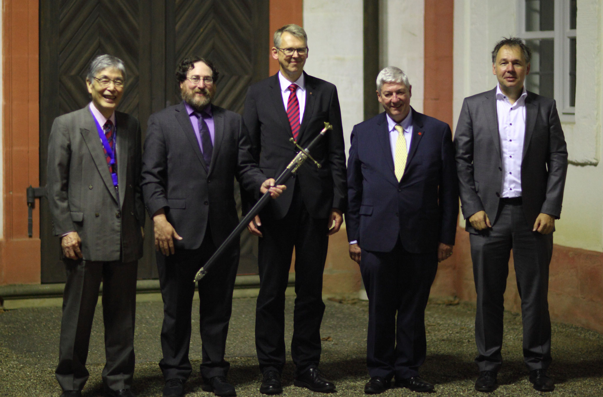 Four Knights of Laser Technology and one conference chair: Prof. Isamu Miyamoto, Prof. Craig B. Arnold, Prof. Frank Vollertsen, Prof. Jean-Pierre Kruth and Prof. Michael Schmidt (from left to right)