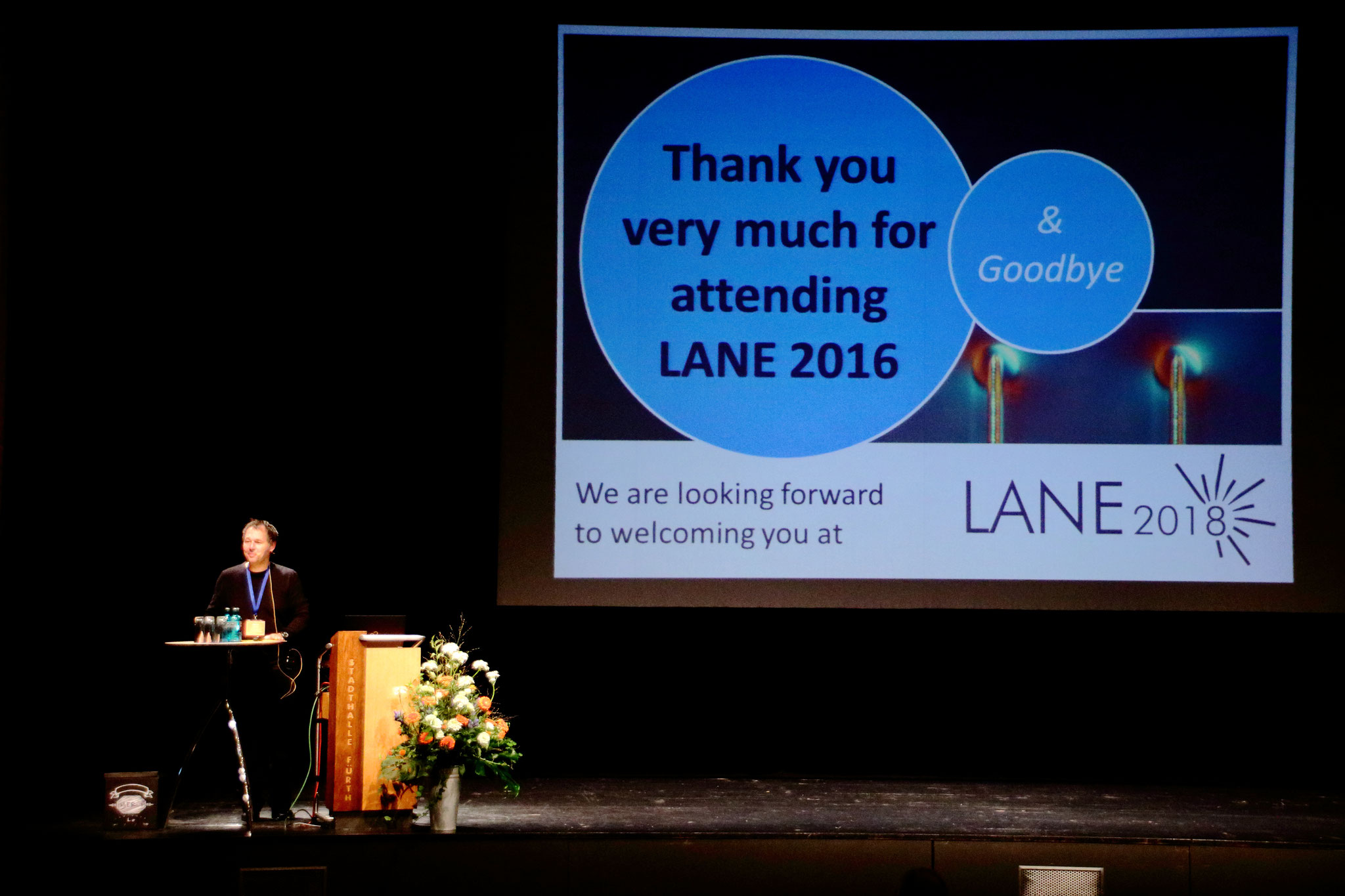 See you at LANE 2018! – Prof. Michael Schmidt says goodbye to the participants of LANE 2016