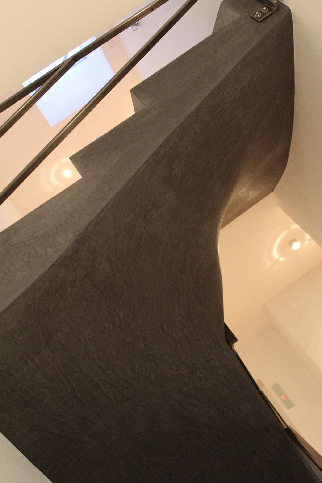 Sichtbeton Verkleidung betonfertigstufen winkelstufen nonnast raum beton design