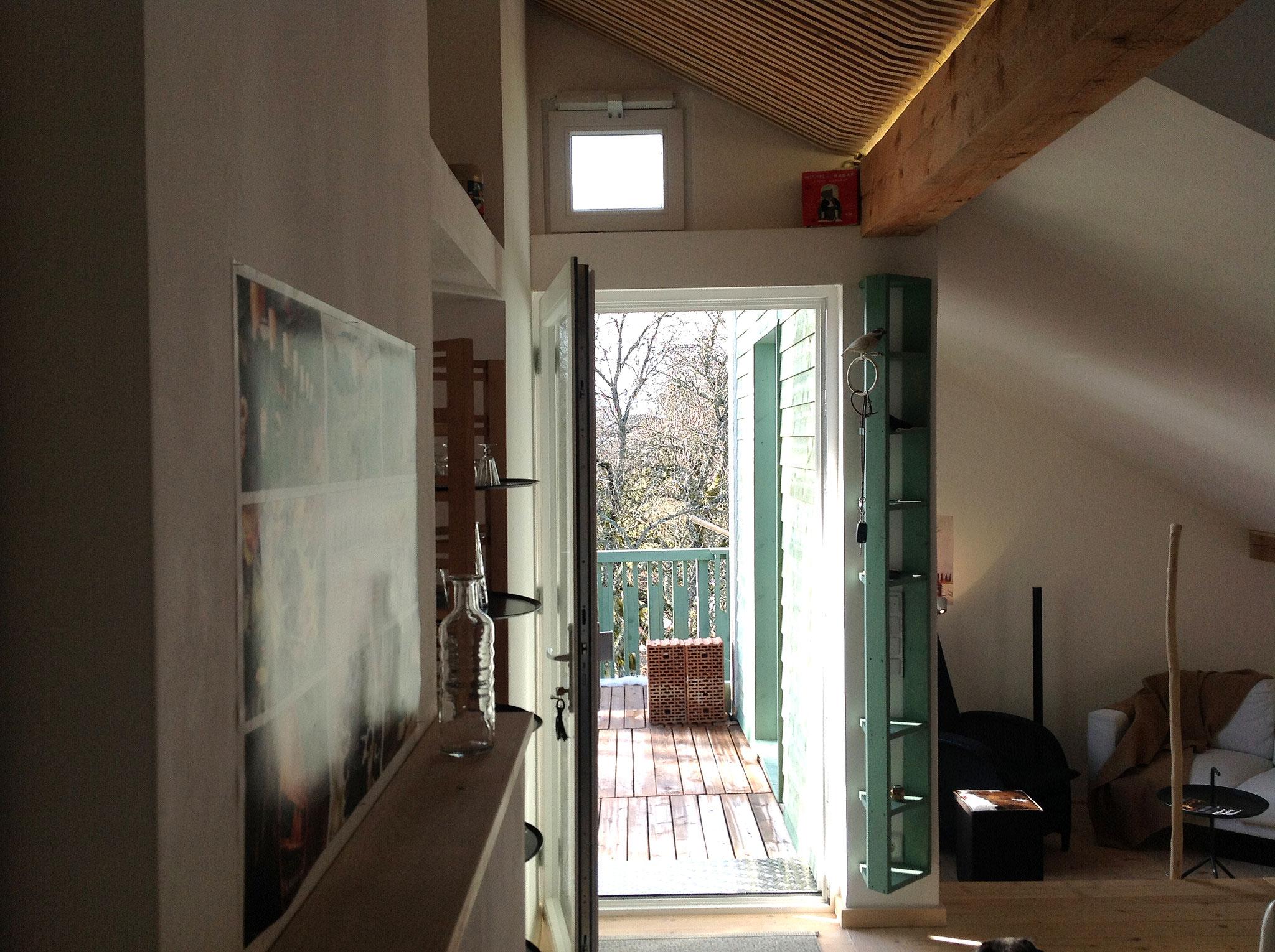 Die Ferienwohnung verfügt über einen separaten Eingang