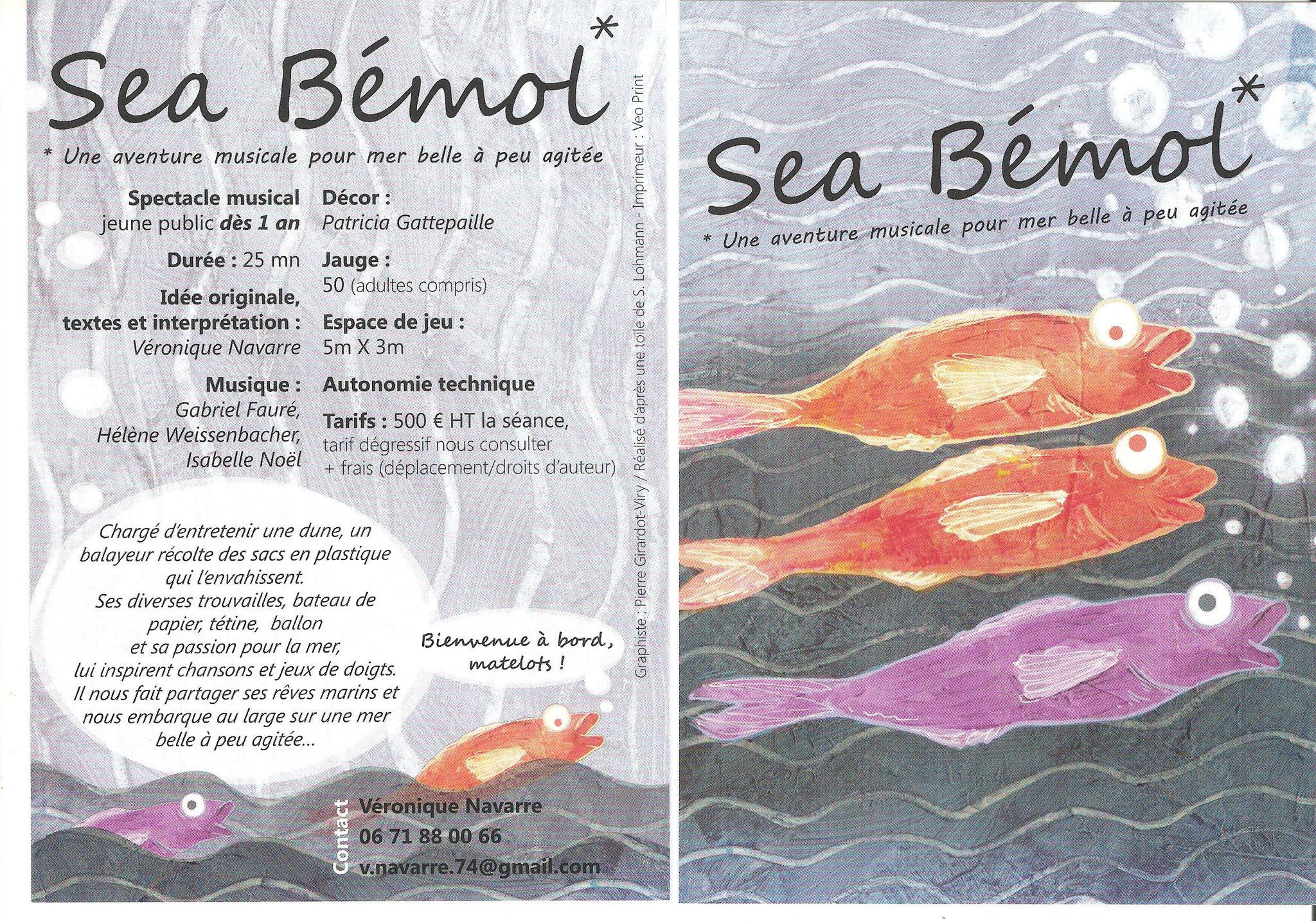 """Scénographie du spectacle musical """"Sea Bémol"""""""
