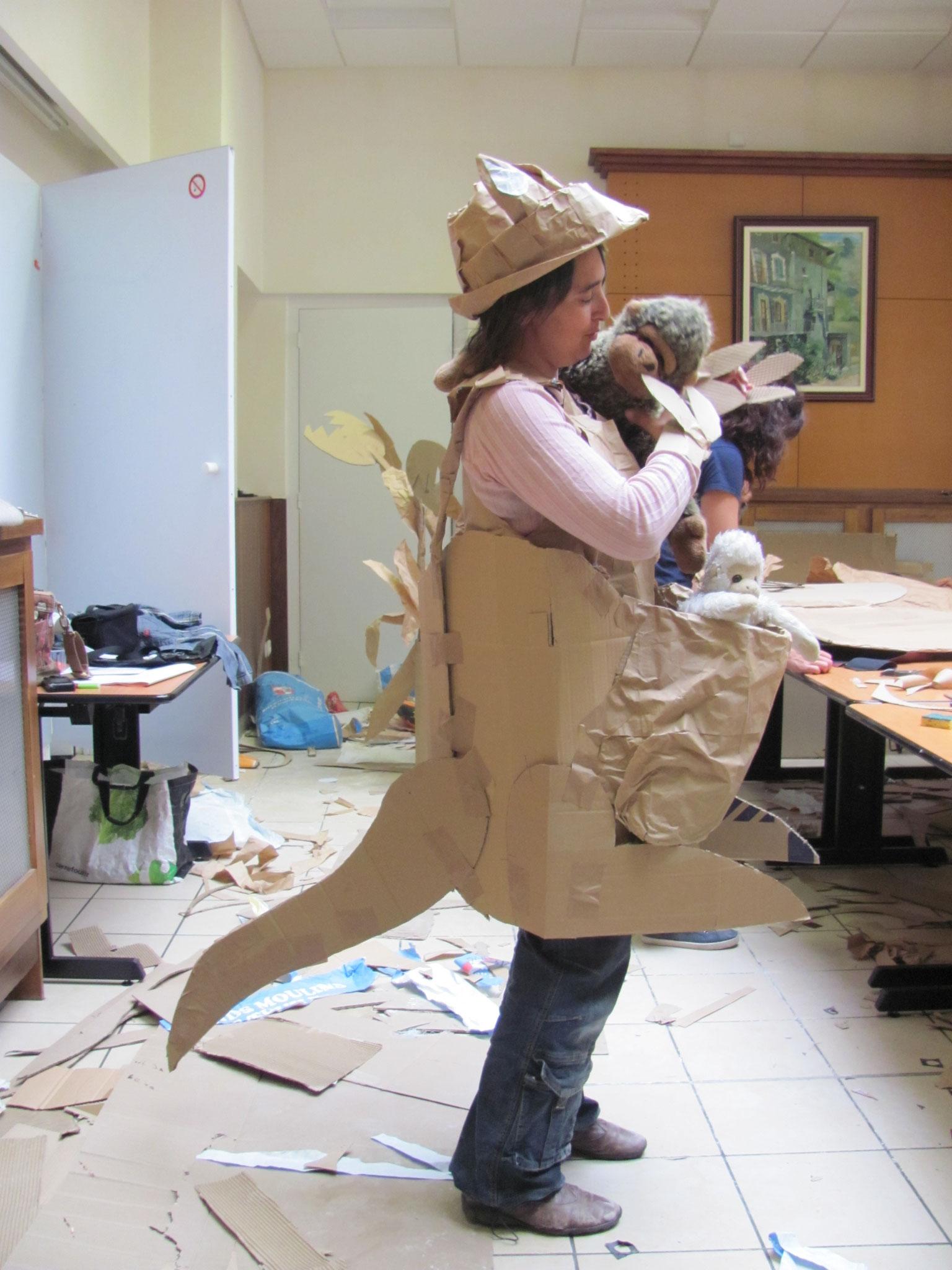 marionnettes géantes atelier St Jean de Maurienne