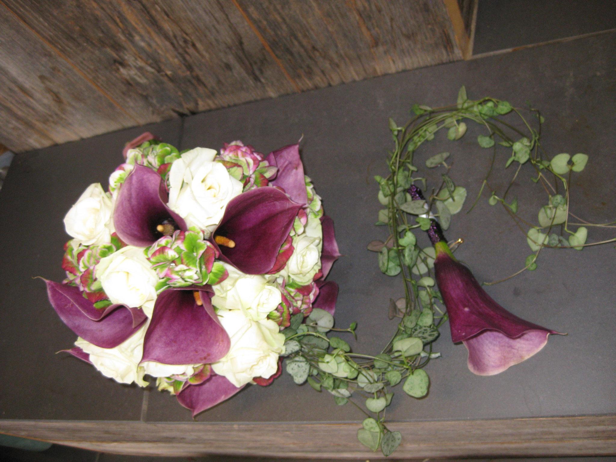 Bouquet marié et boutonnière