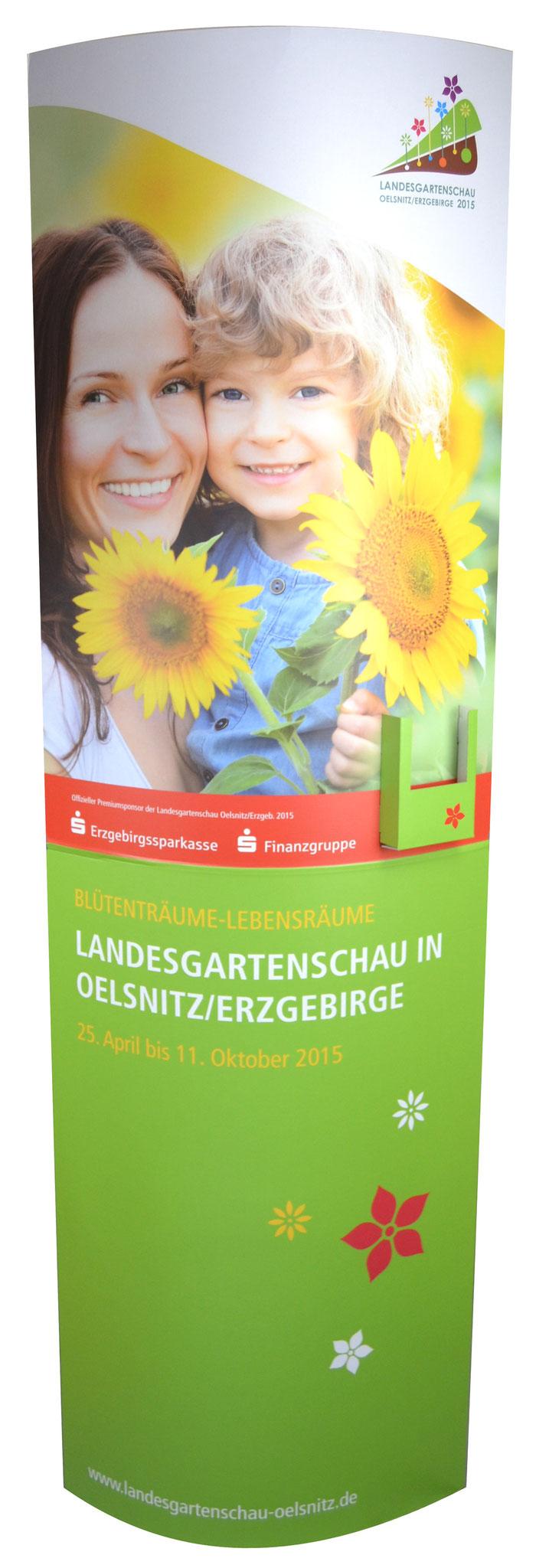 """Ellipse mit Dispenser """"Landesgartenschau"""""""