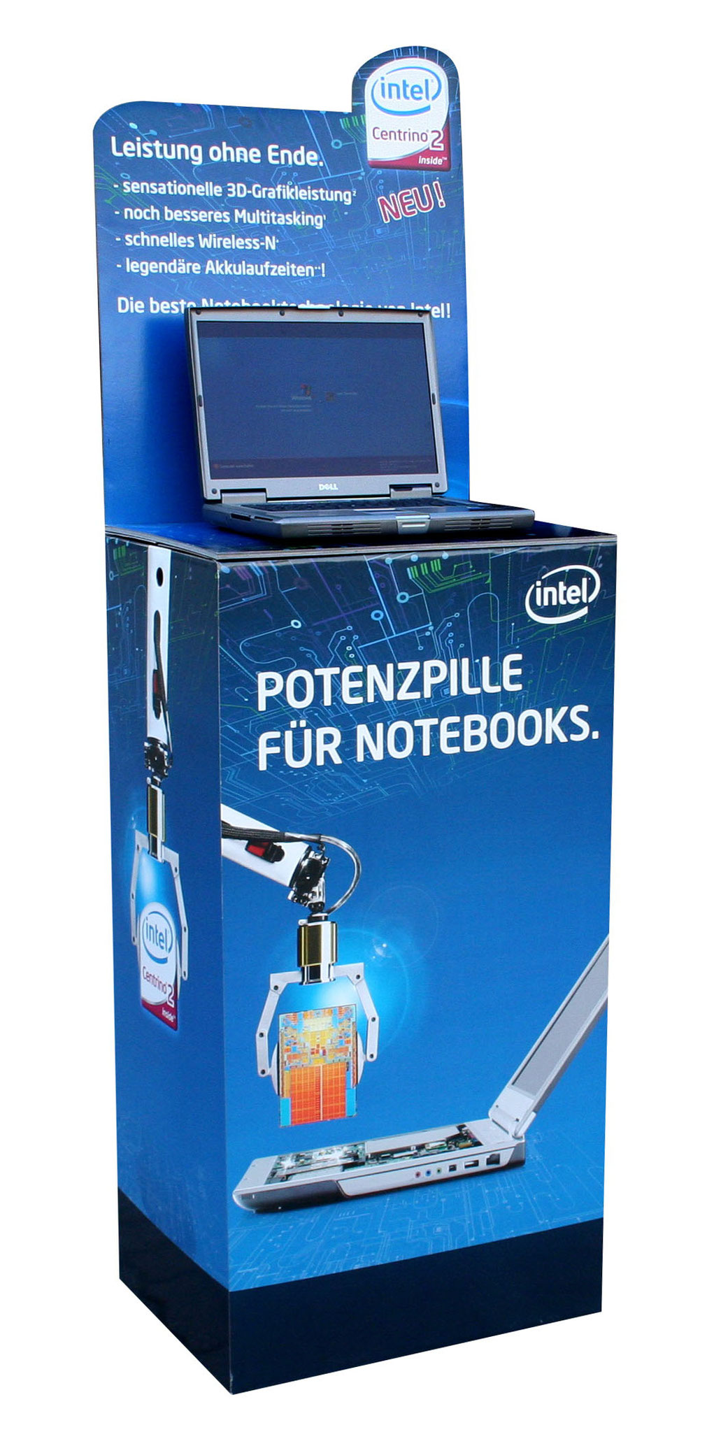 "Bodendisplay / Displaytisch ""Intel"""