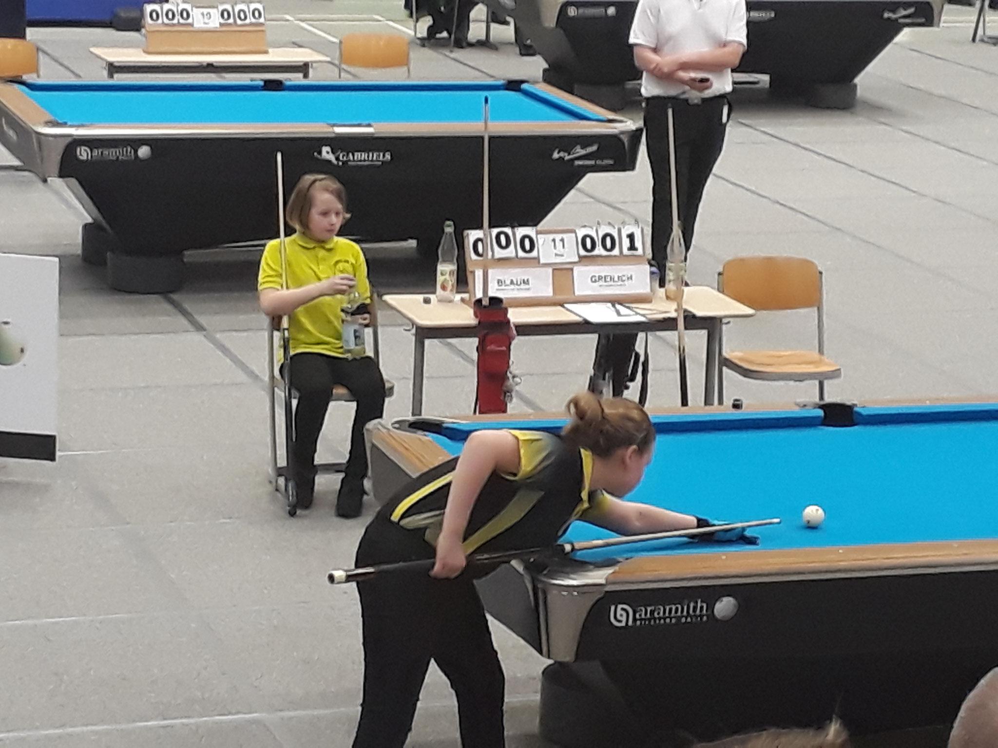 Amy Blaum gegen Hailey Freilich - Foto: Bergische Pool Union