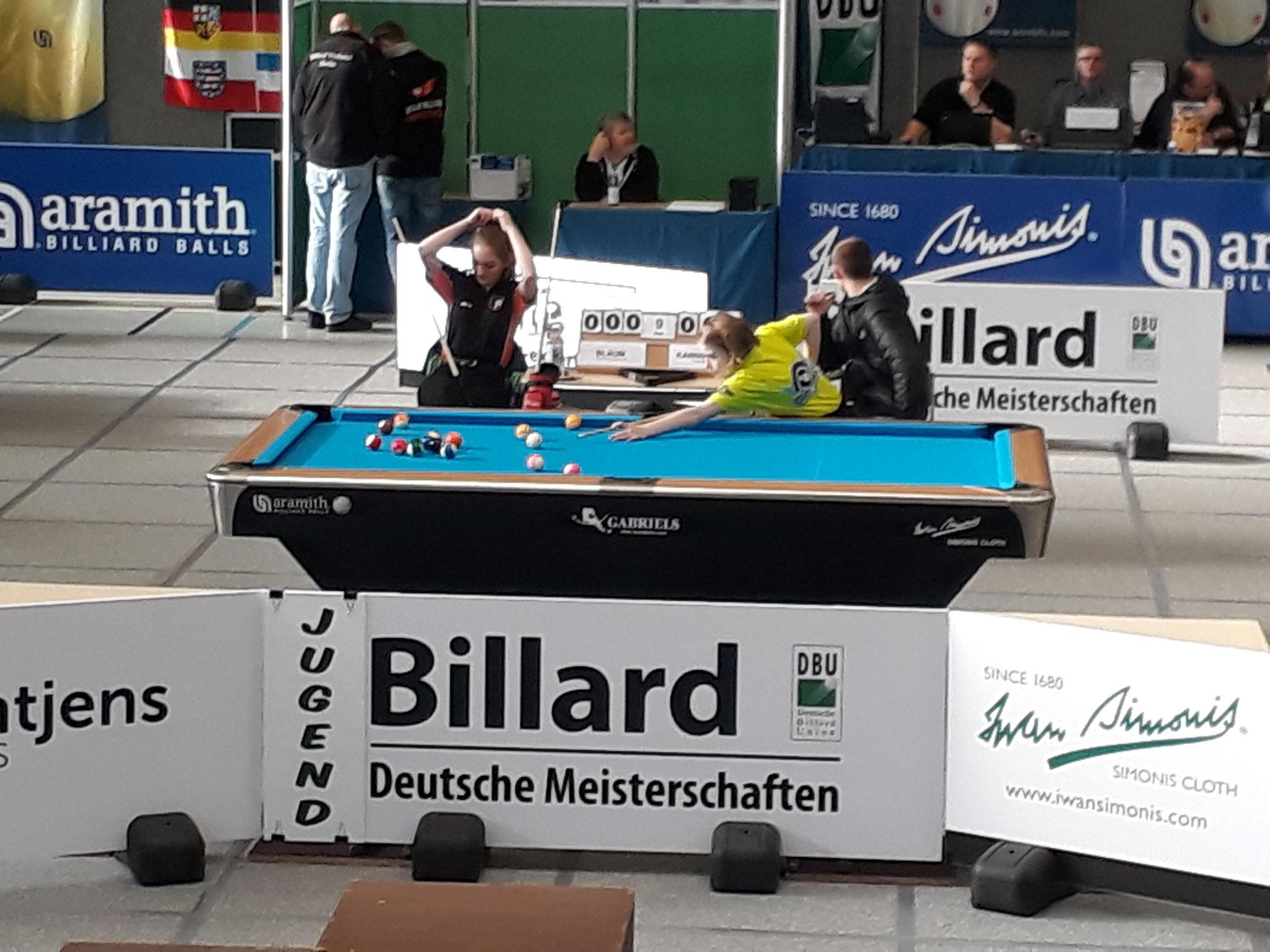 14.1 Amy Blaum gegen Marie Kanngießer - Foto: Bergische Pool Union