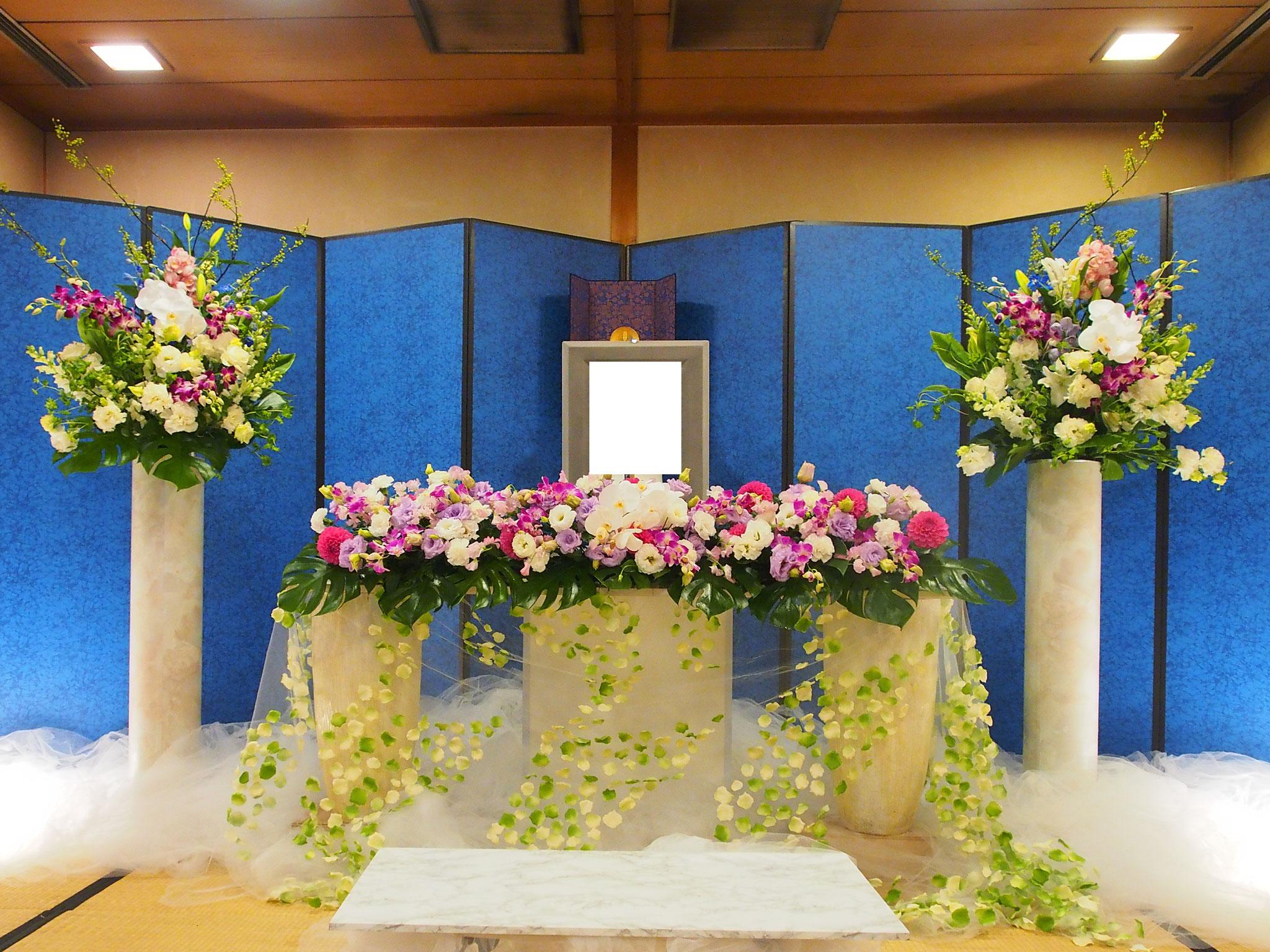 高知市での家族葬飾り