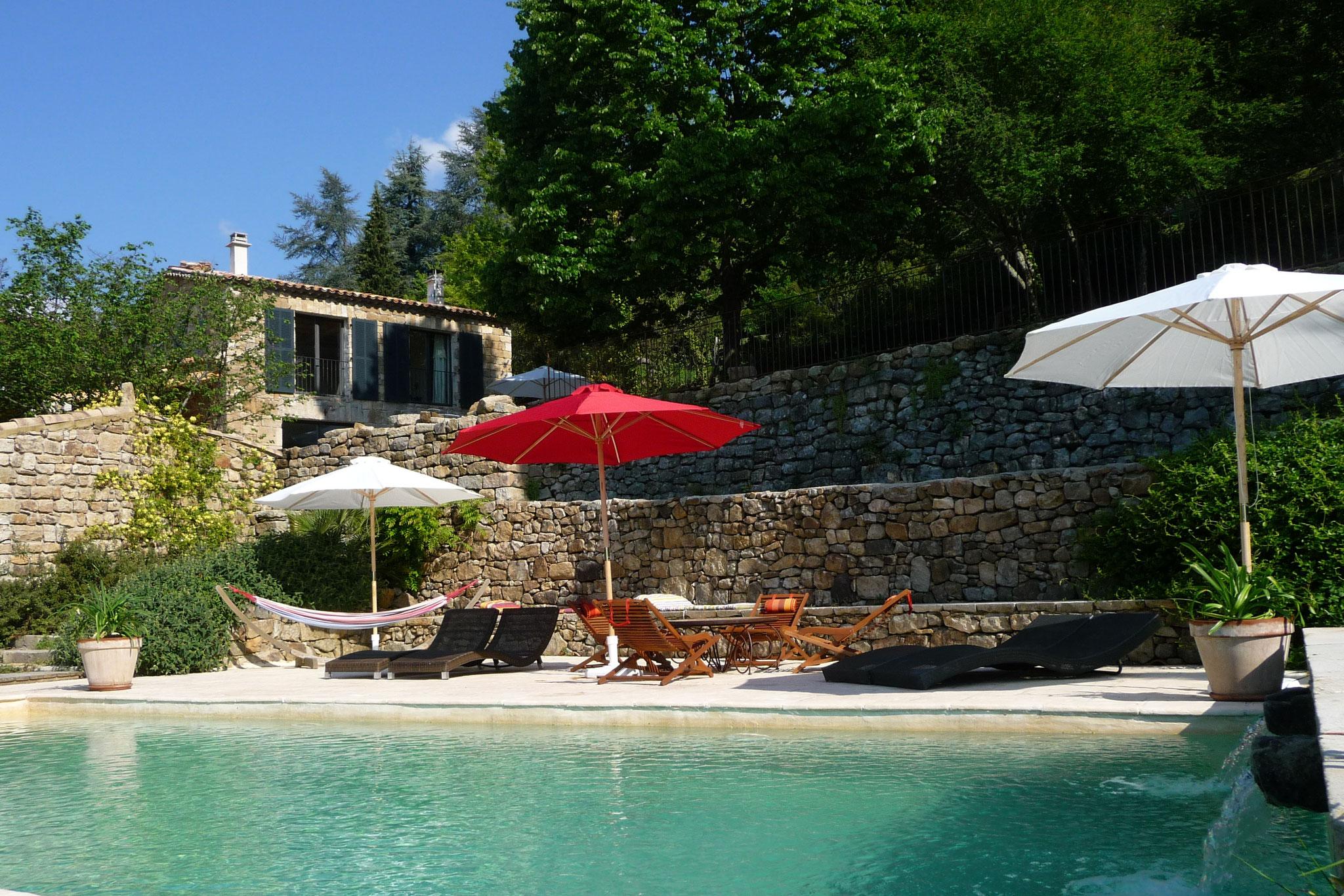 Piscine et maison de charme - Domaine du Fayet - Ardèche sud