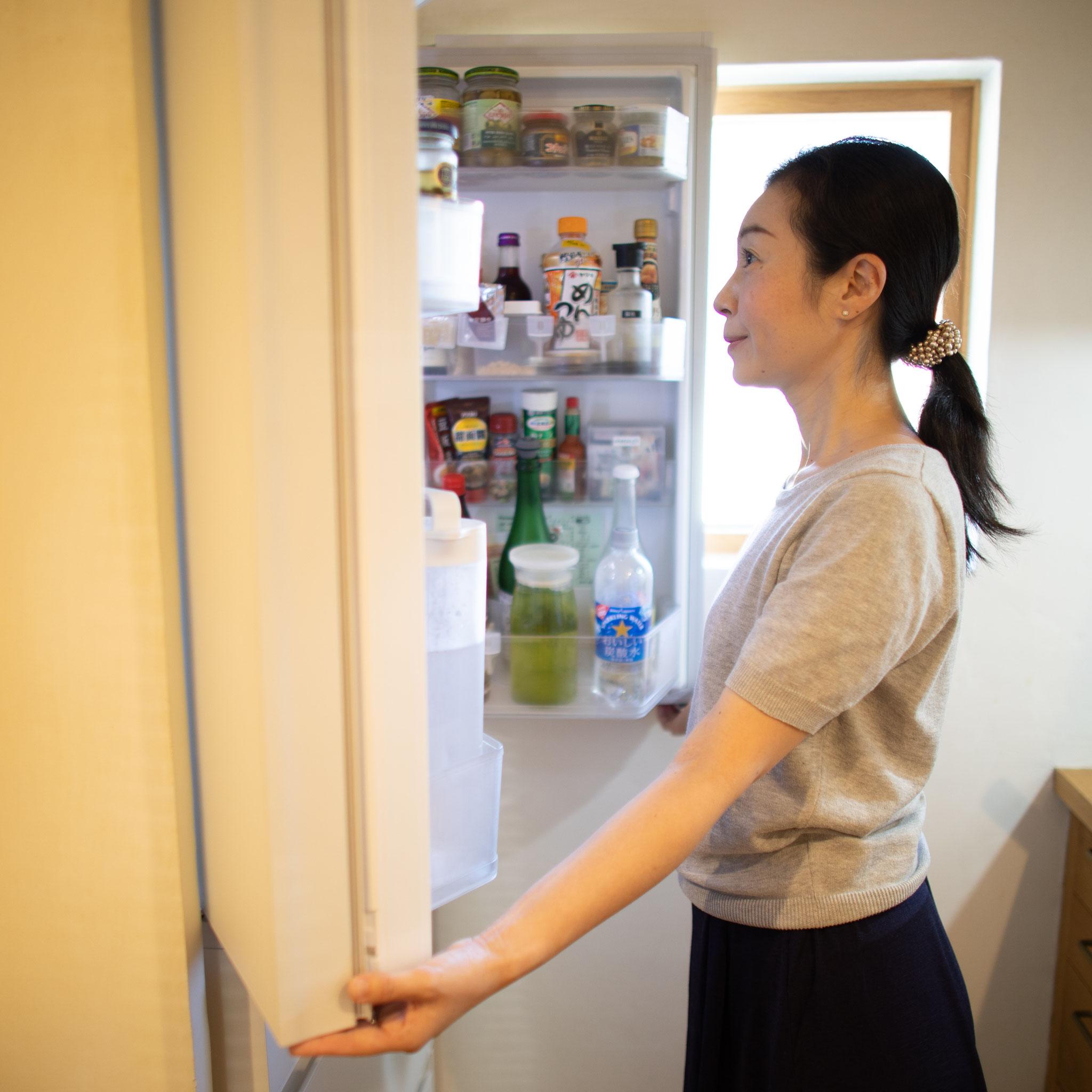 冷蔵室だけなど範囲を決めて食材を出す