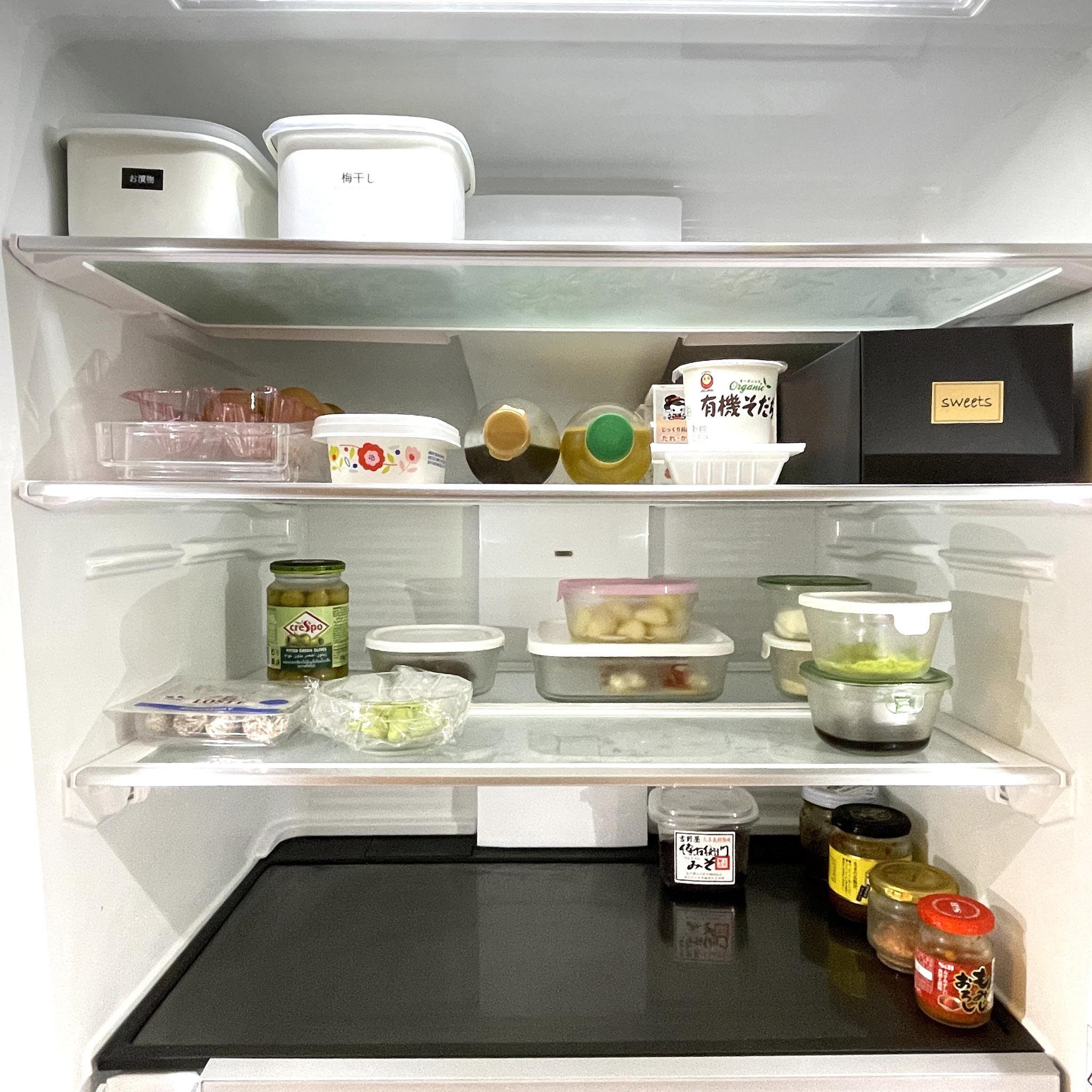 食材を戻したら冷蔵庫収納の完成☆