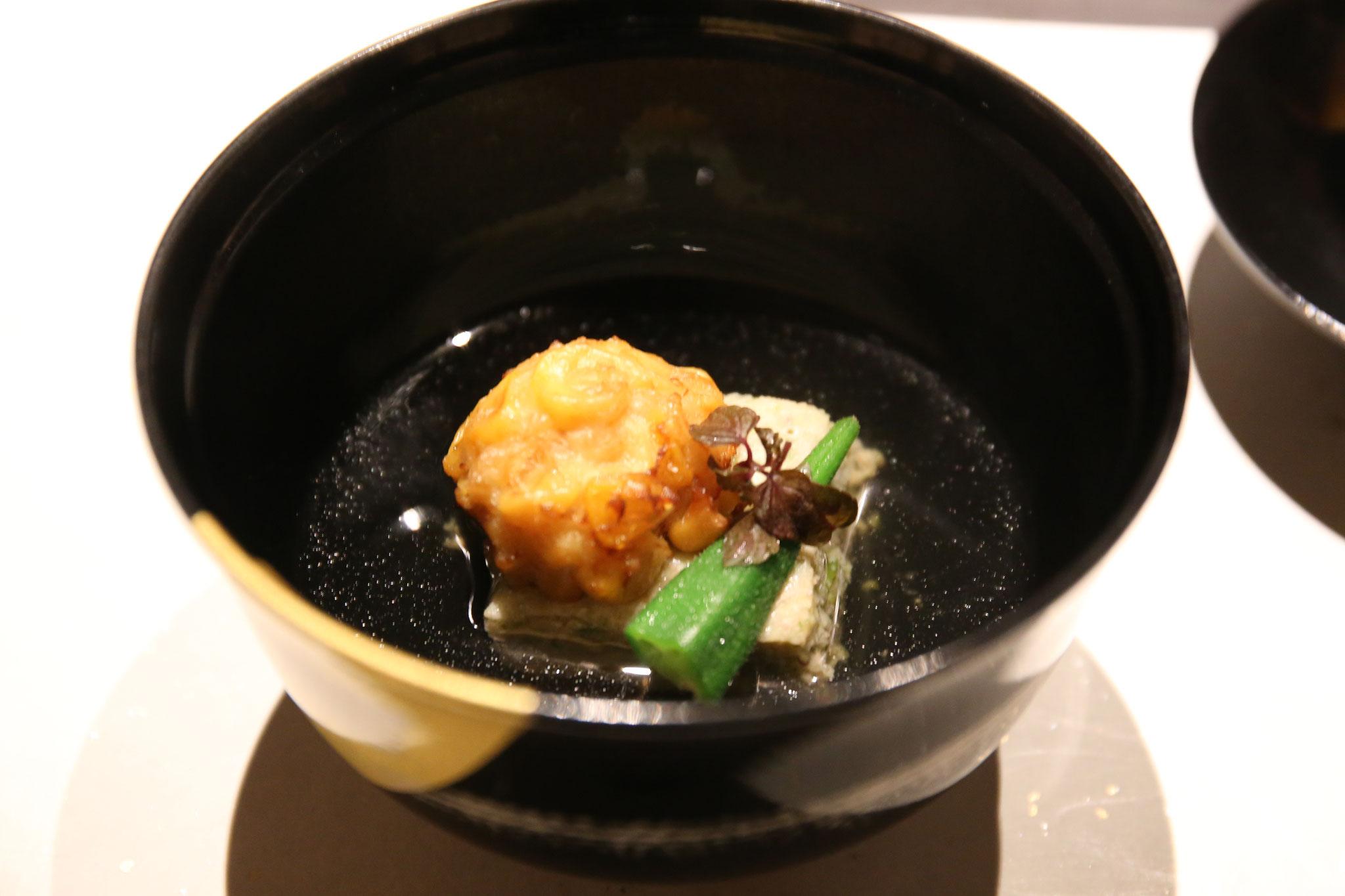 お椀|おくら翡翠豆腐