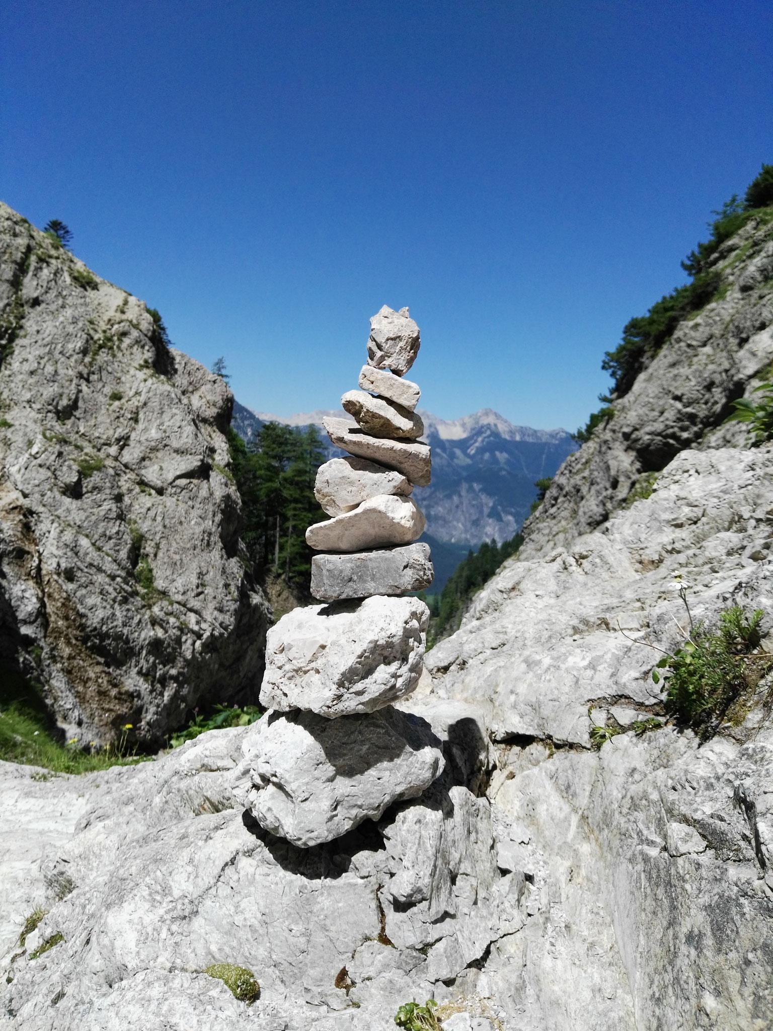 nach Höherem streben und gleichzeitig in Balance bleiben