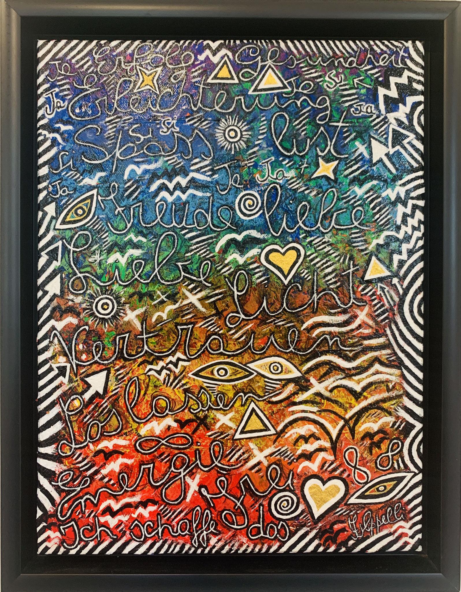 53. Ernesto Filipelli, ohne Titel, Acryl Pastell auf Leinwand, 350 x 450 mm, 320 € mit Rahmen