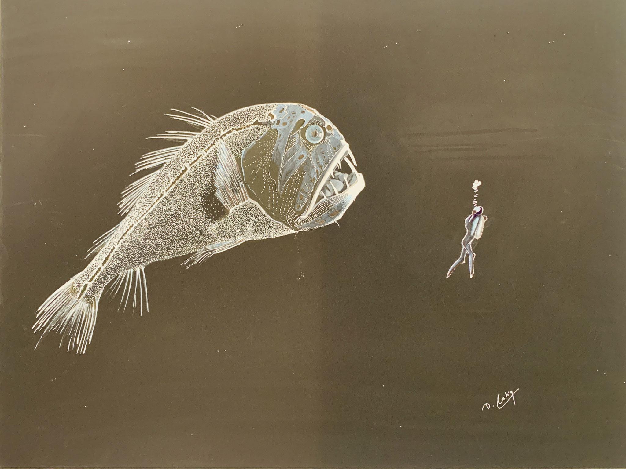 Detlef Hartig, Eines Tages im Pazifik, Acryl auf Leinwand, 2020, 1.800 €