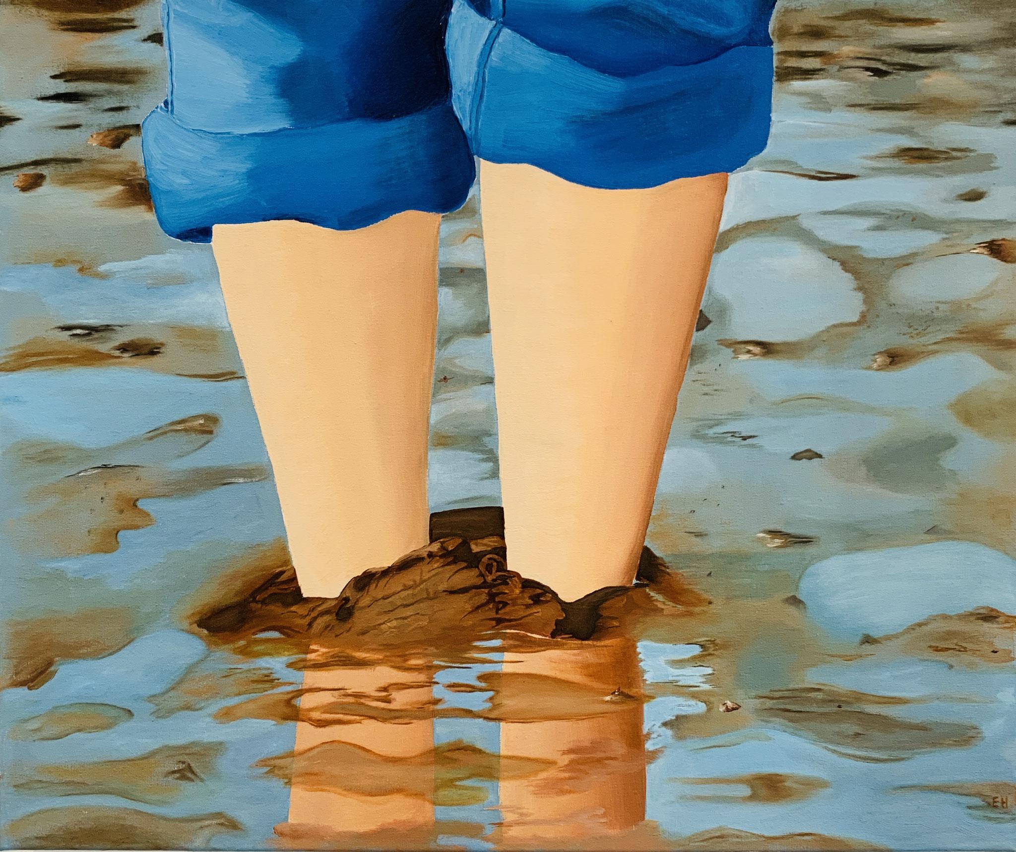 22. Elke Hassinger, ohne Titel, Öl auf Leinwand, 2020