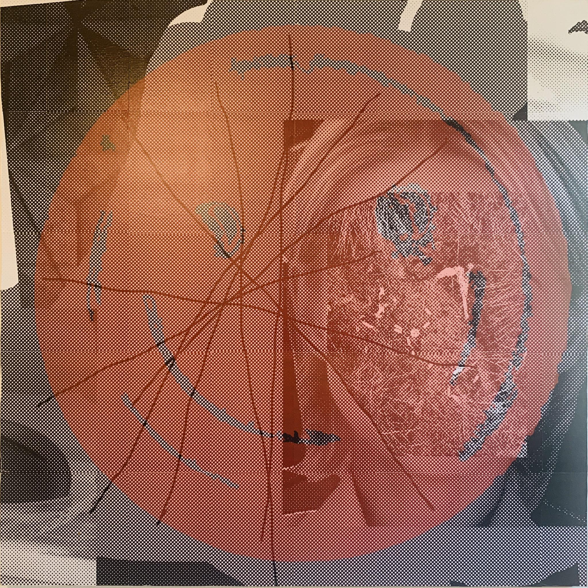 61. Simon Kneipp, ohne Titel, Laserdruck auf Spanplatte, 2020