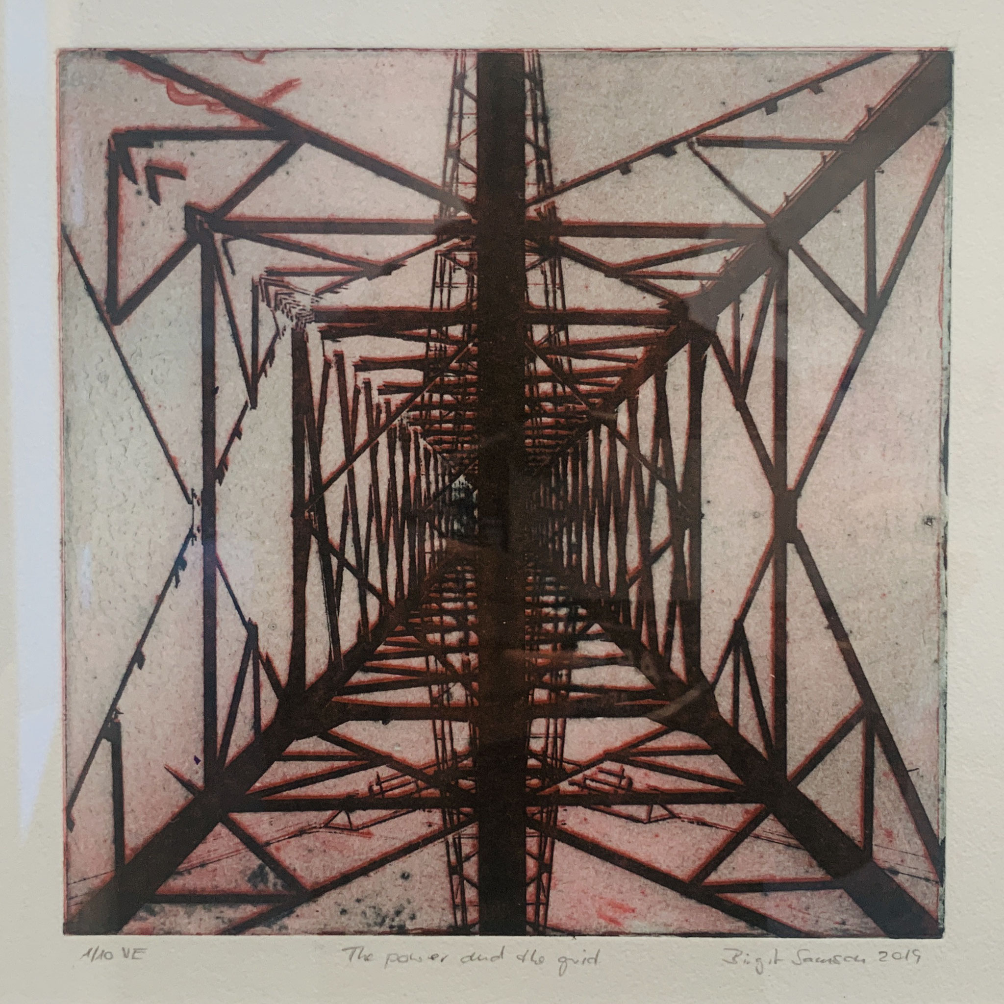 32. / 33. Birgit Samson, The Power and the Grid 1 + 2, Intagliotypie, 2019, je 120 €