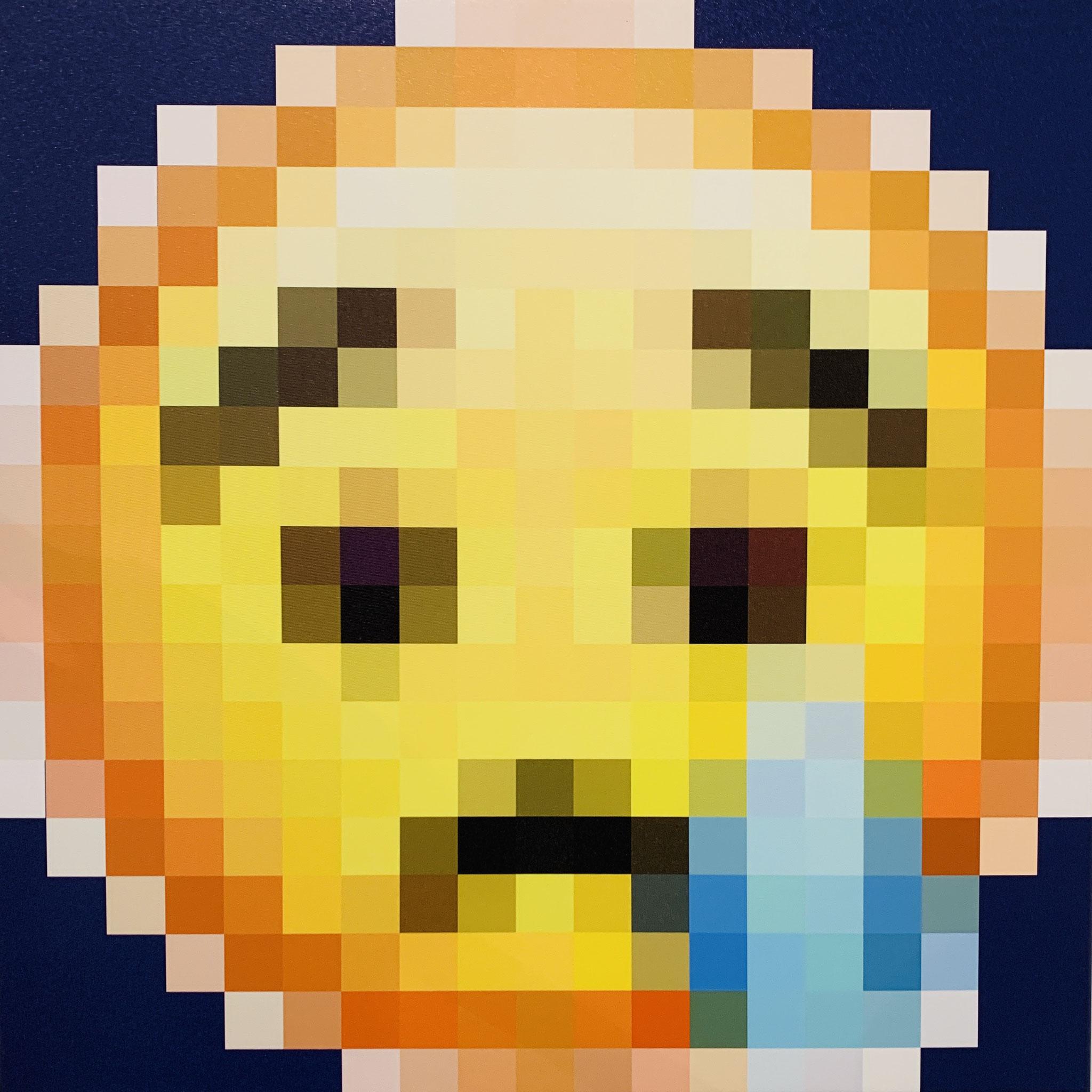 14. Klaus Ritt, Corona Emoji, Digitaldruck auf Leinwand, 600 x 600, 2020, Preis auf Anfrage