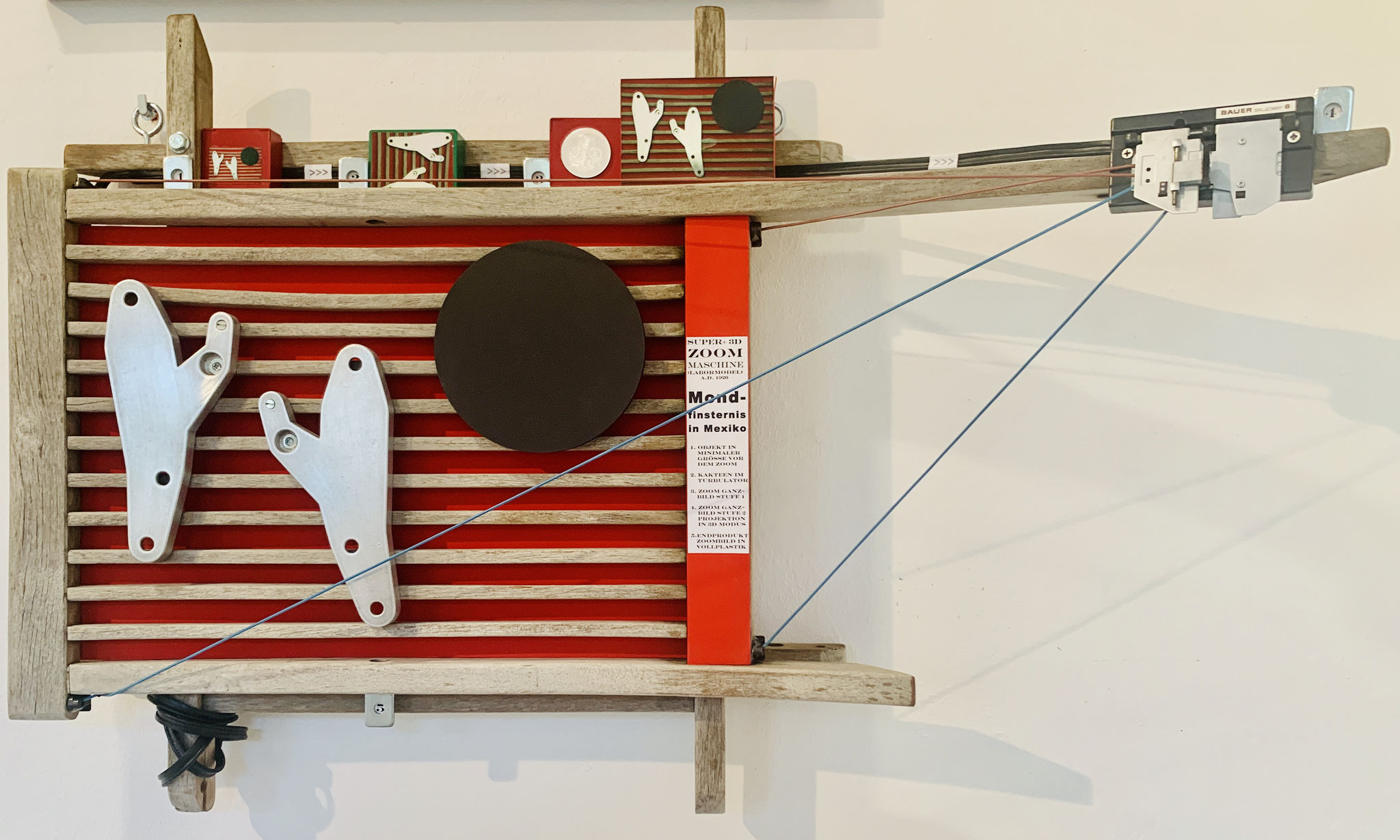 57. Burchard Bott, Mondfinsternis in Mexiko, Holz-Metall-Collage, 600 x 440 mm, 2020, Preis auf Anfrage